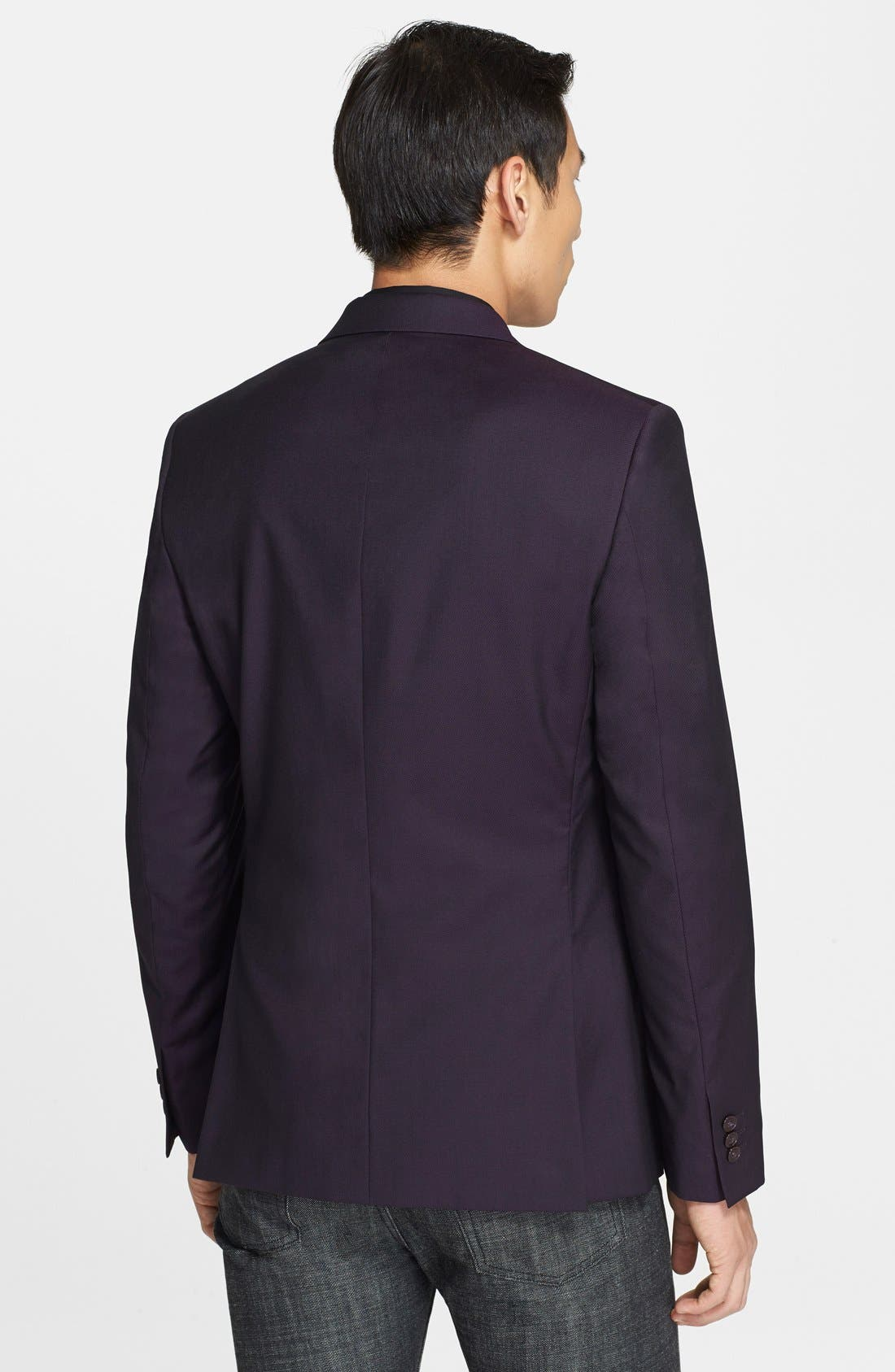 Alternate Image 2  - Versace Collection Purple Twill Wool & Silk Sport Coat