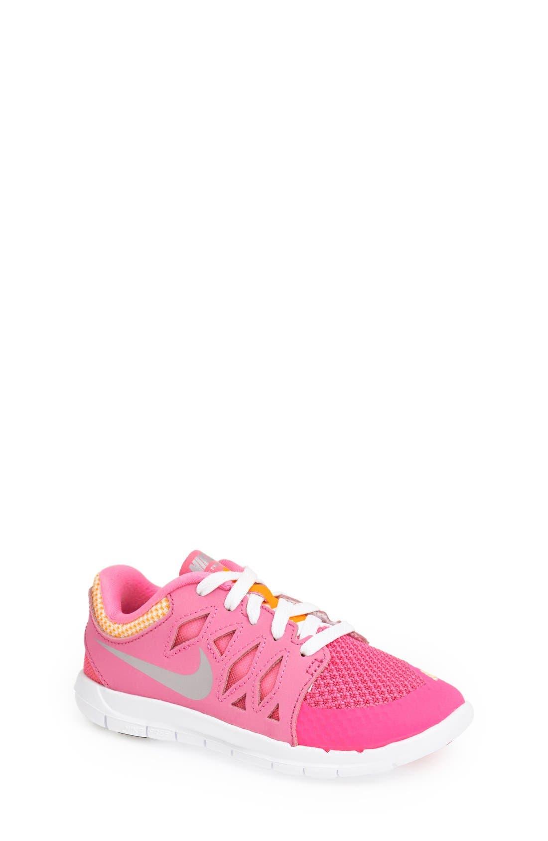 Alternate Image 1 Selected - Nike 'Free 5.0' Running Shoe (Toddler & Little Kid)