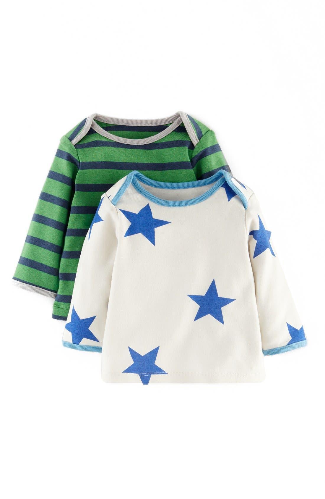 Main Image - Mini Boden Long Sleeve Cotton T-Shirt (2-Pack) (Baby Boys)