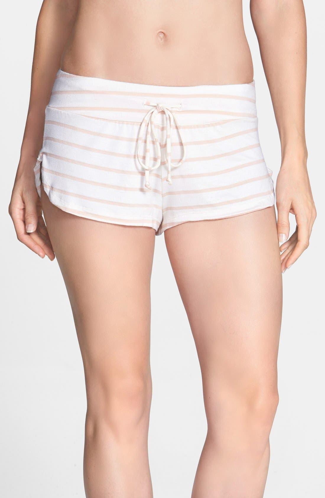Alternate Image 1 Selected - Eberjey 'Lounge Stripes' Shorts