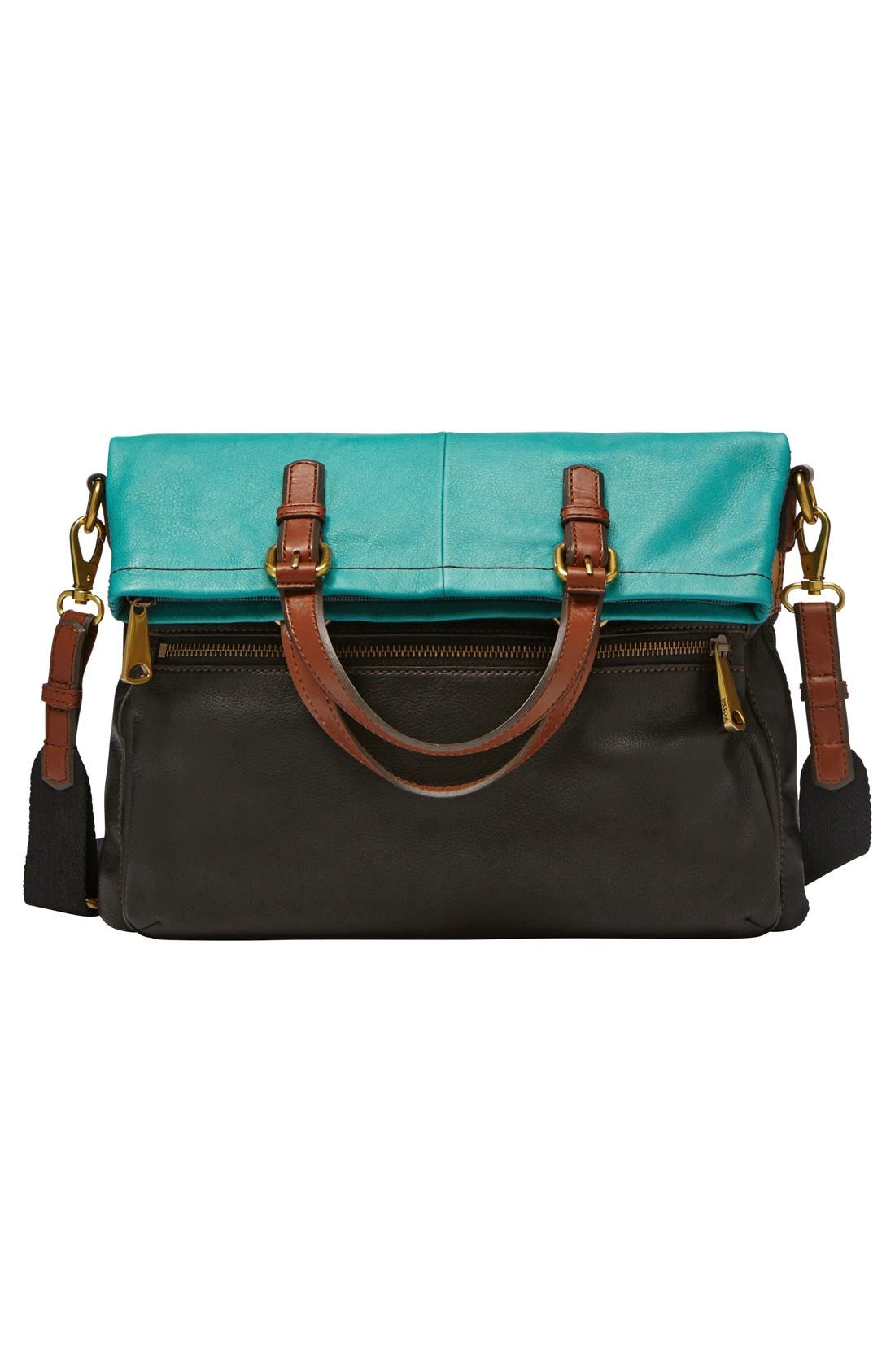 Alternate Image 4  - Fossil 'Explorer' Patchwork Convertible Tote