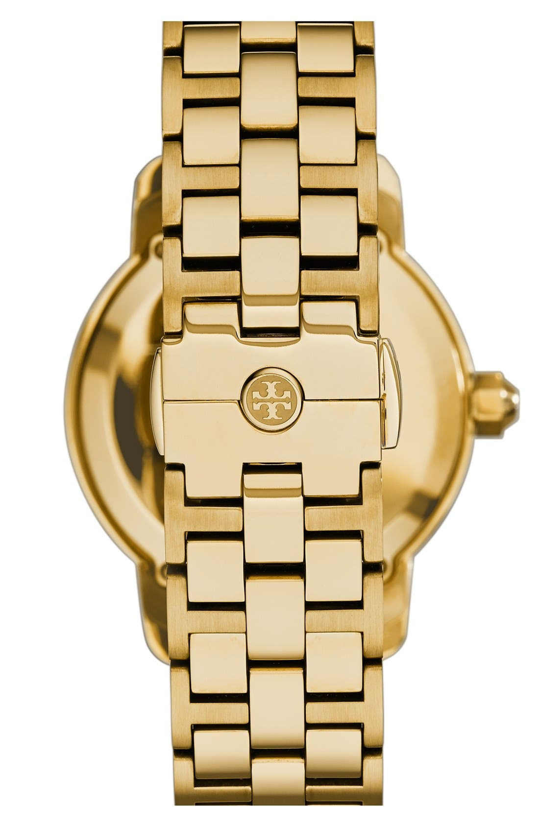 Alternate Image 3  - Tory Burch 'Tory' Large Round Bracelet Watch, 37mm
