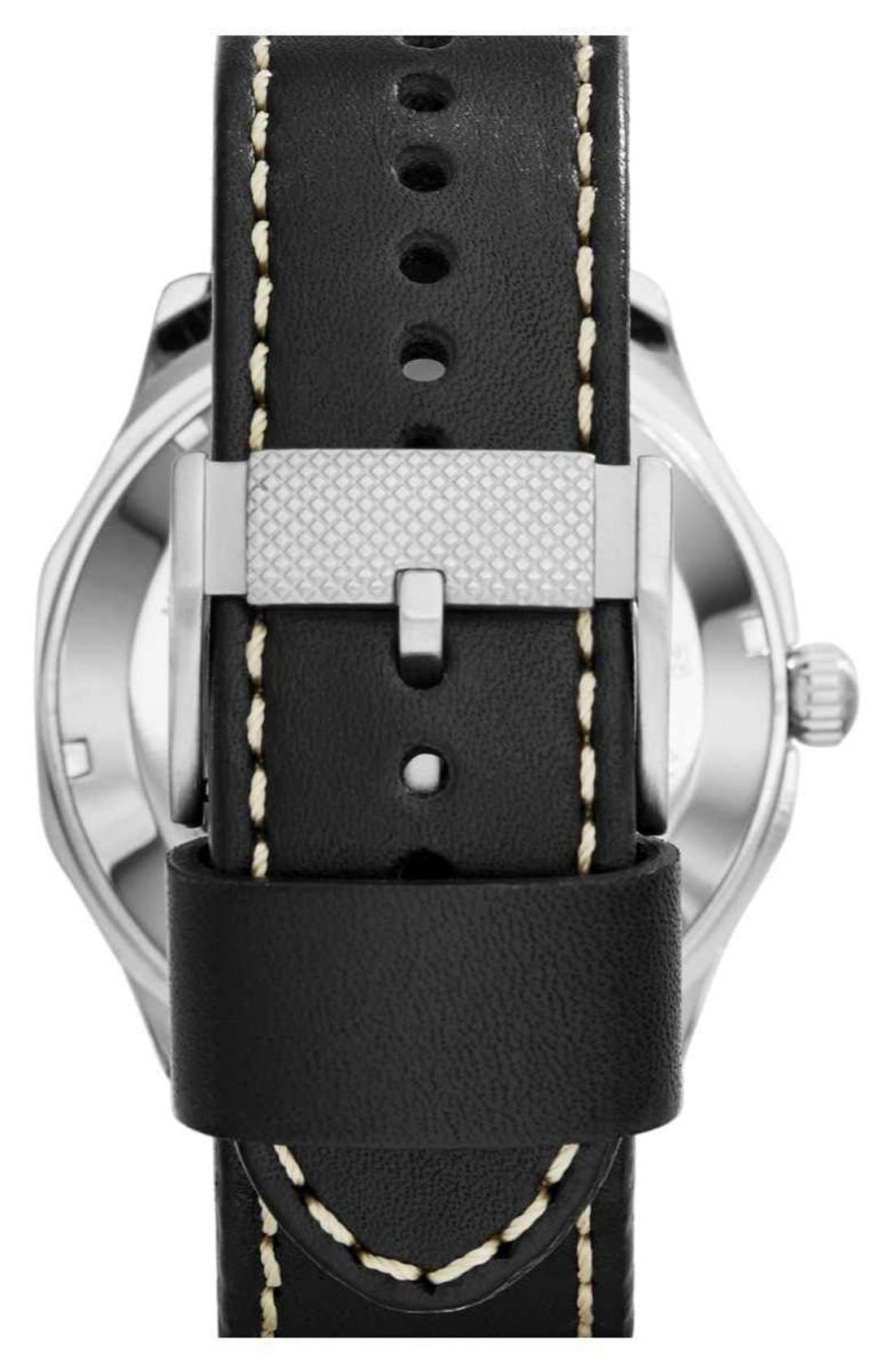 Alternate Image 2  - Fossil 'Foreman' Automatic Leather Strap Watch, 47mm