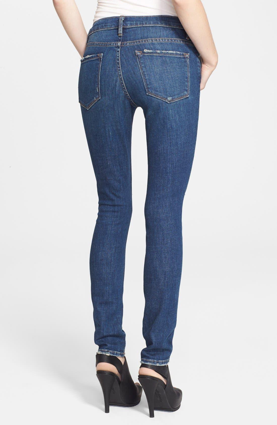 Alternate Image 2  - Frame Denim 'Le Skinny de Jeanne' Destroyed Jeans (Walgrove)