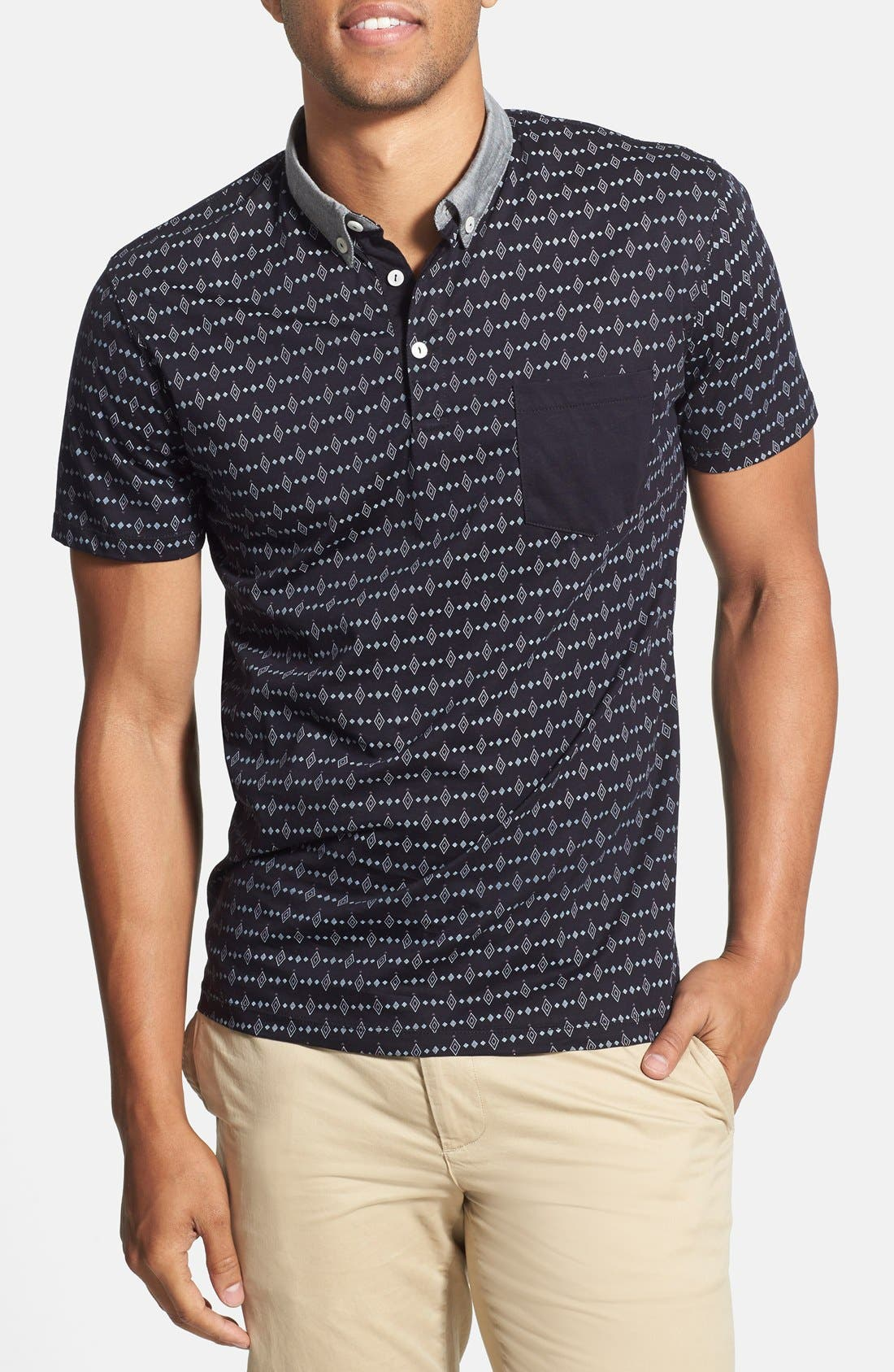 Alternate Image 1 Selected - 7 Diamonds 'Kaleidoscope' Print Mercerized Polo