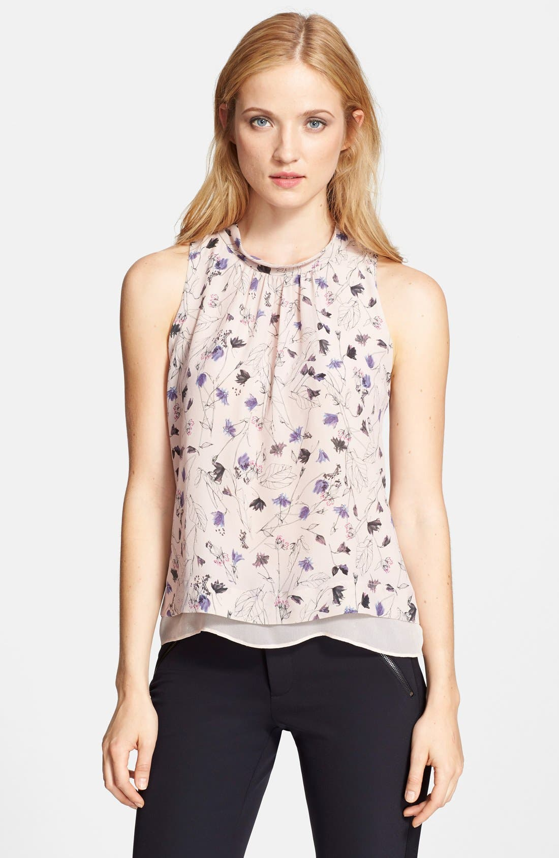 Alternate Image 1 Selected - Rebecca Taylor Sleeveless Print Top