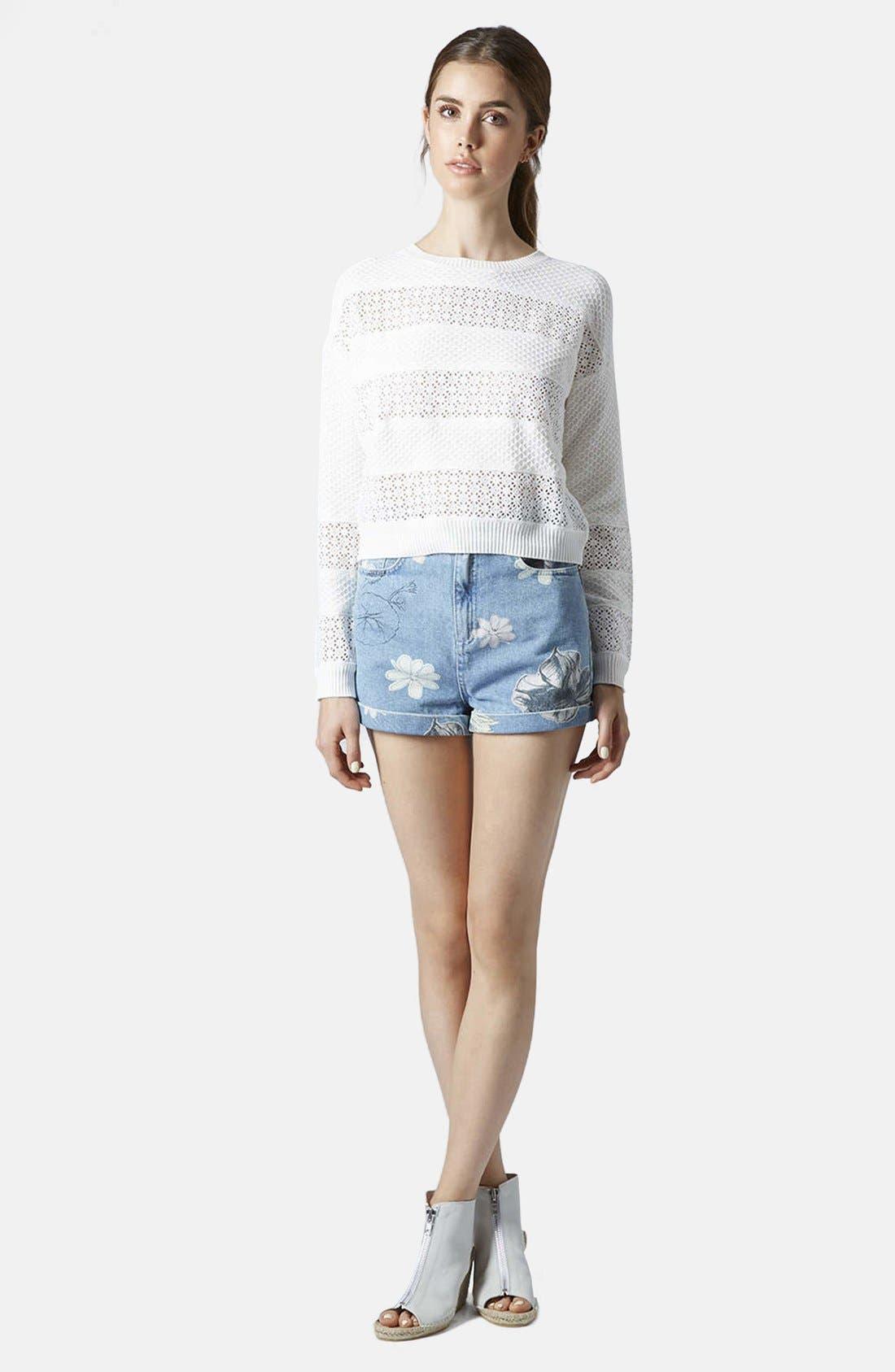 Alternate Image 5  - Topshop Lace Stripe Sweater