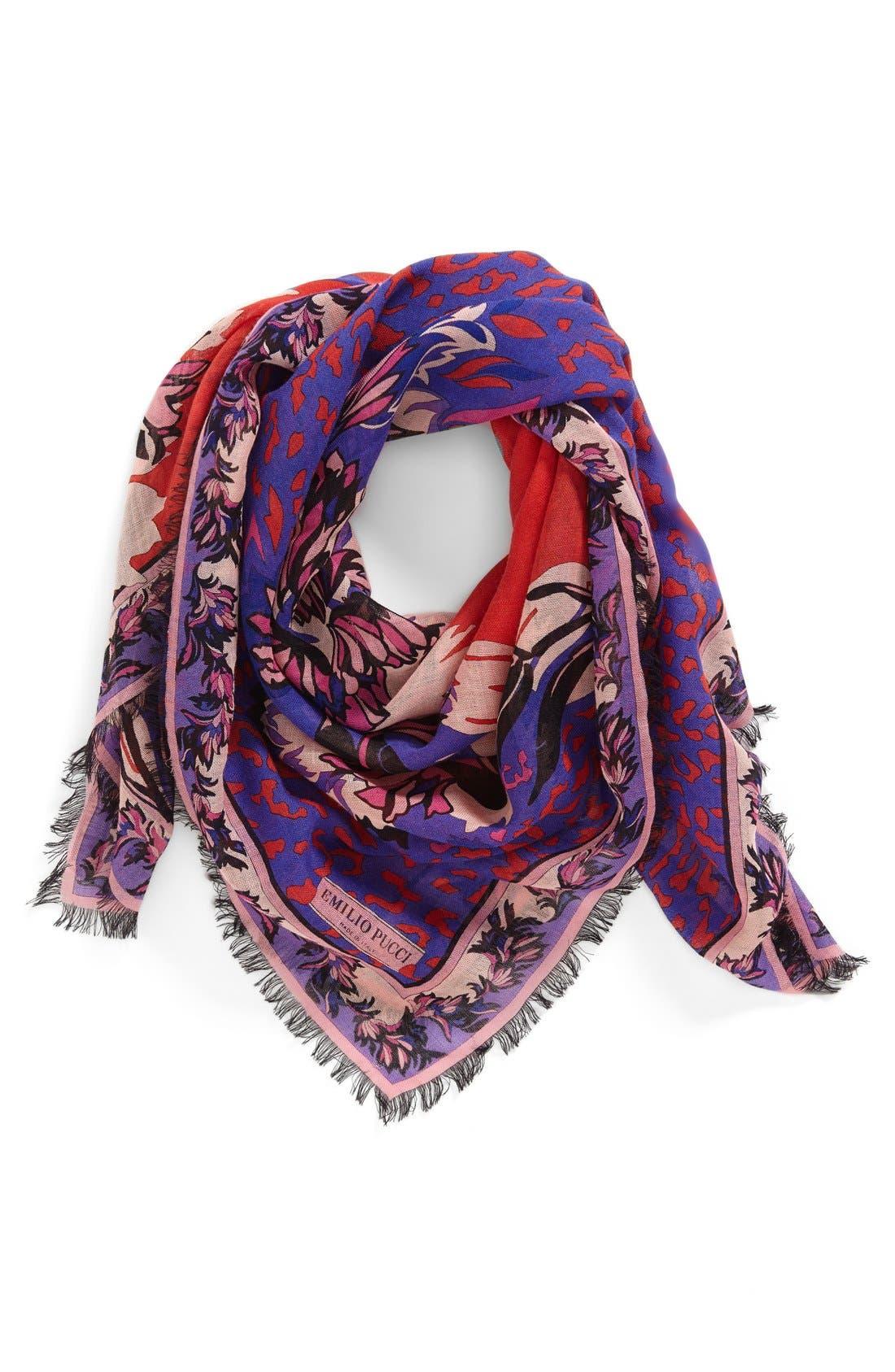 Alternate Image 1 Selected - Emilio Pucci 'Khiva' Wool & Silk Scarf