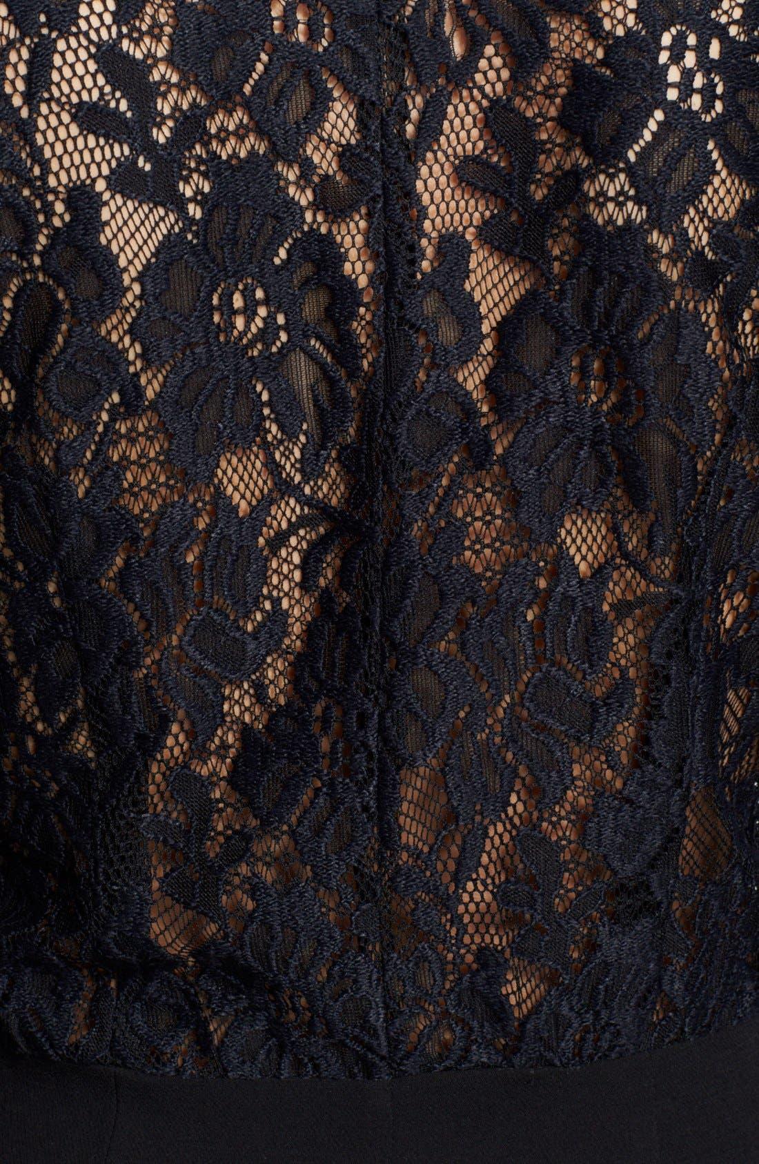 Alternate Image 3  - The Kooples Lace & Crepe Sheath Dress