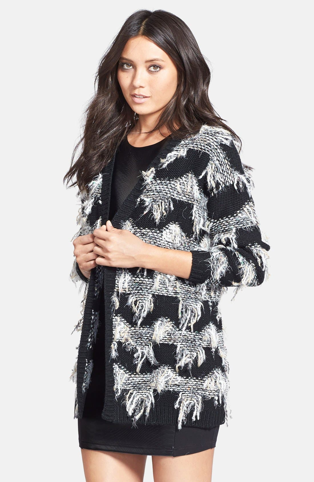 Alternate Image 1 Selected - ASTR Fringe Cardigan
