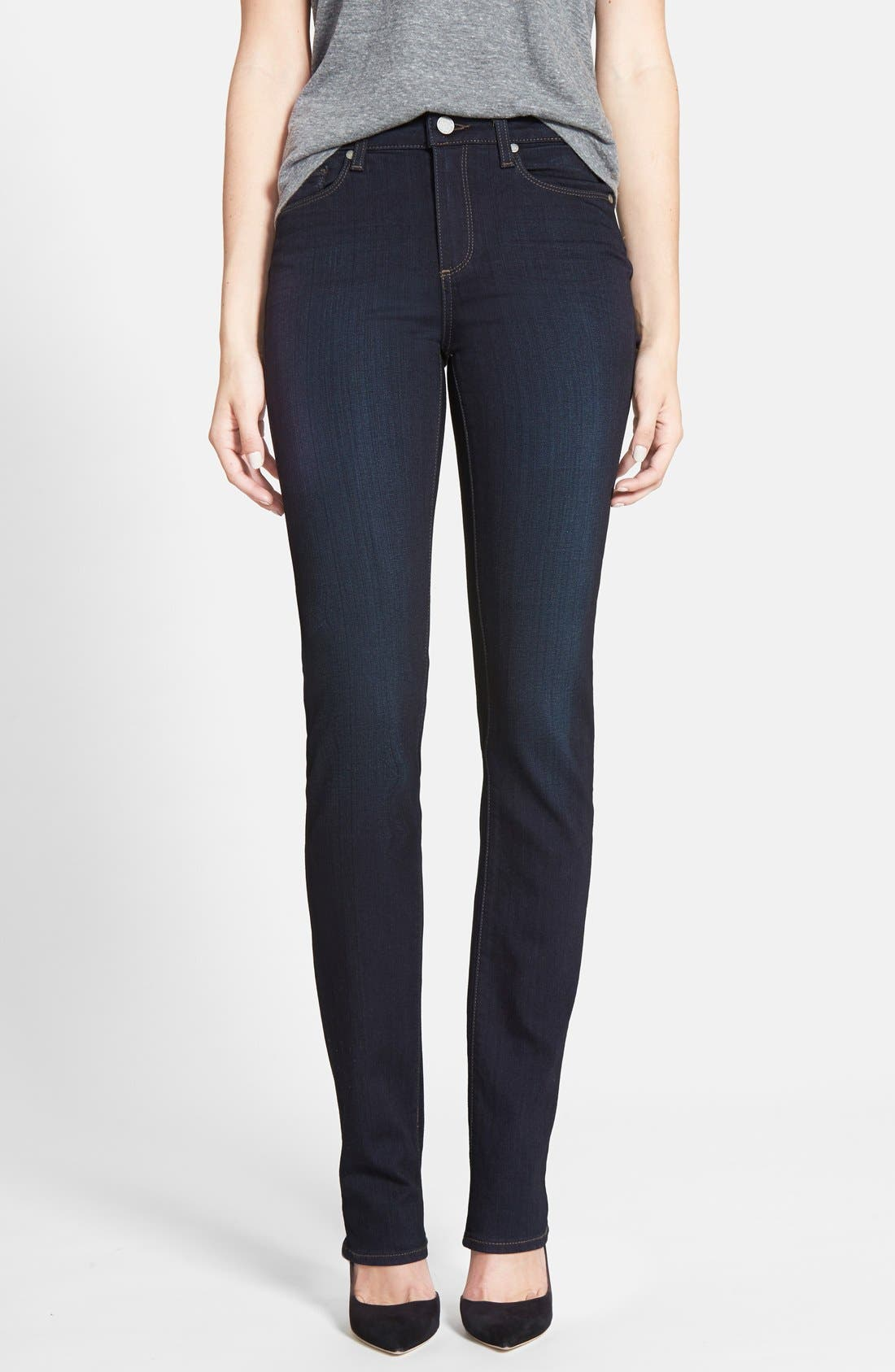 PAIGE Transcend - Hoxton High Waist Straight Jeans (Mona)