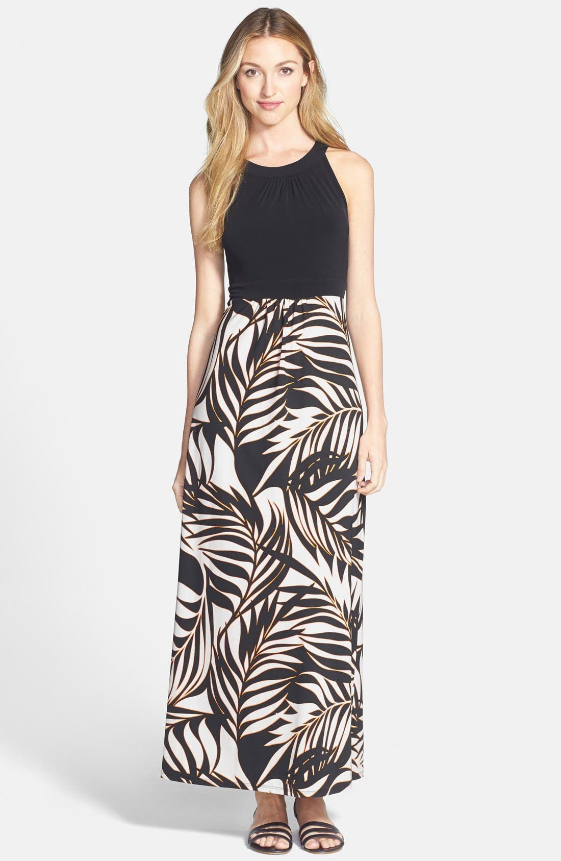 Alternate Image 1 Selected - Wallis 'Flash Palm' Maxi Dress