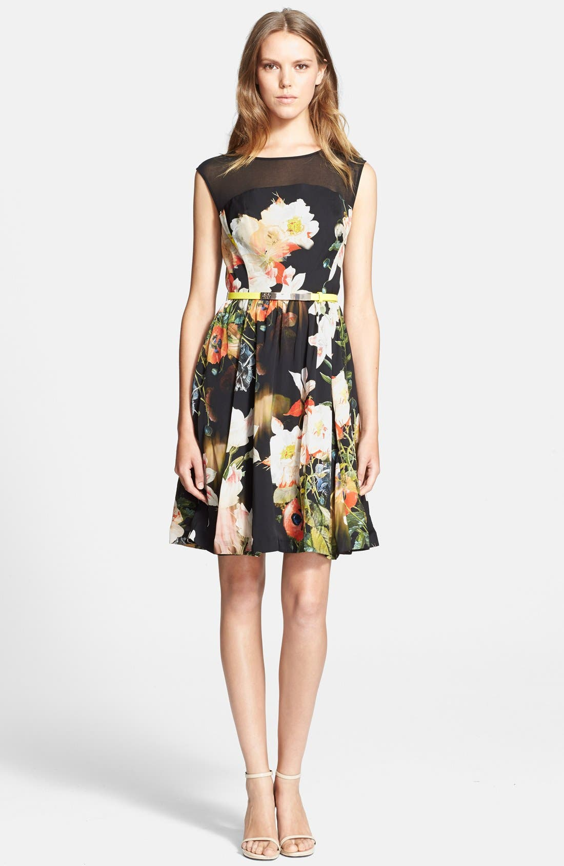 Alternate Image 1 Selected - Ted Baker London 'Opulent Bloom' Fit & Flare Dress
