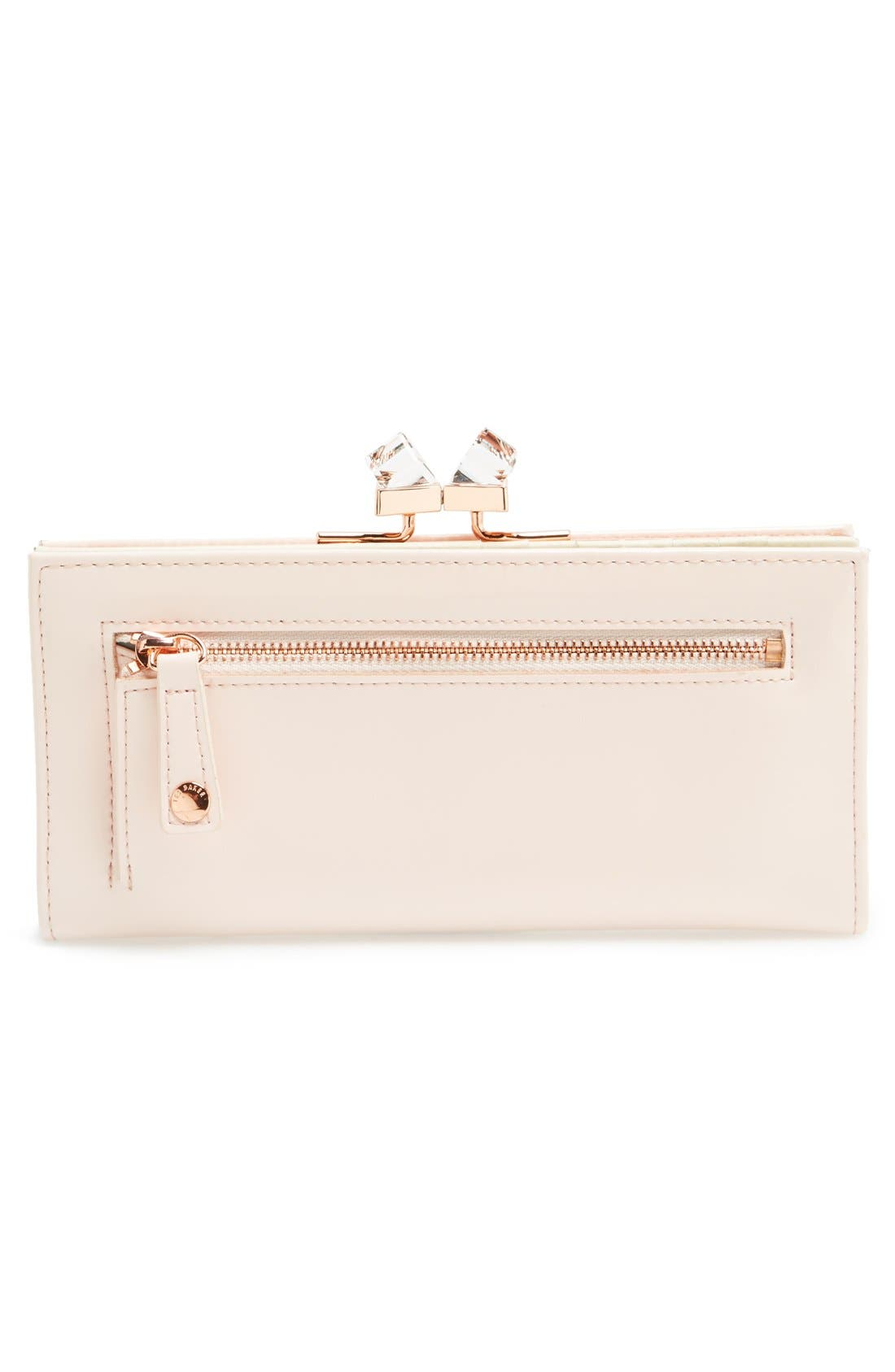 Alternate Image 4  - Ted Baker London 'Crystal Popper' Patent Leather Matinee Wallet