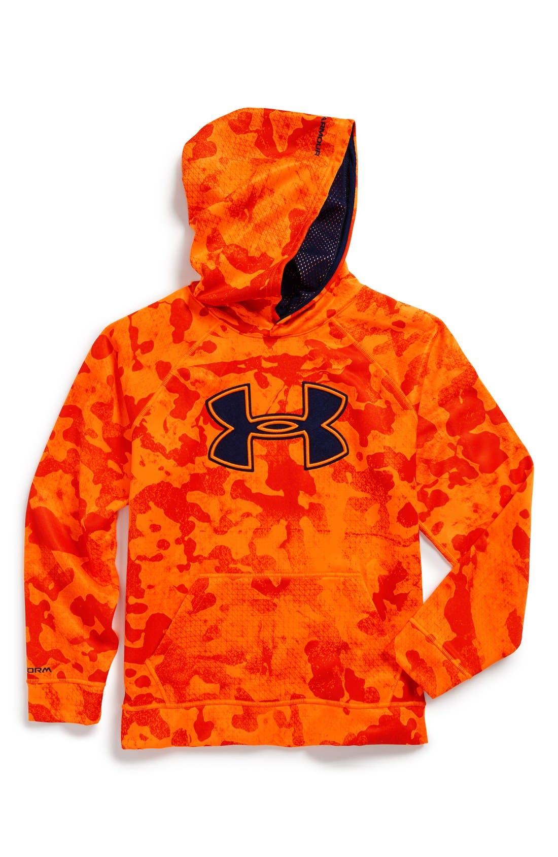 Alternate Image 1 Selected - Under Armour 'Big Logo - Storm' Hoodie (Big Boys)