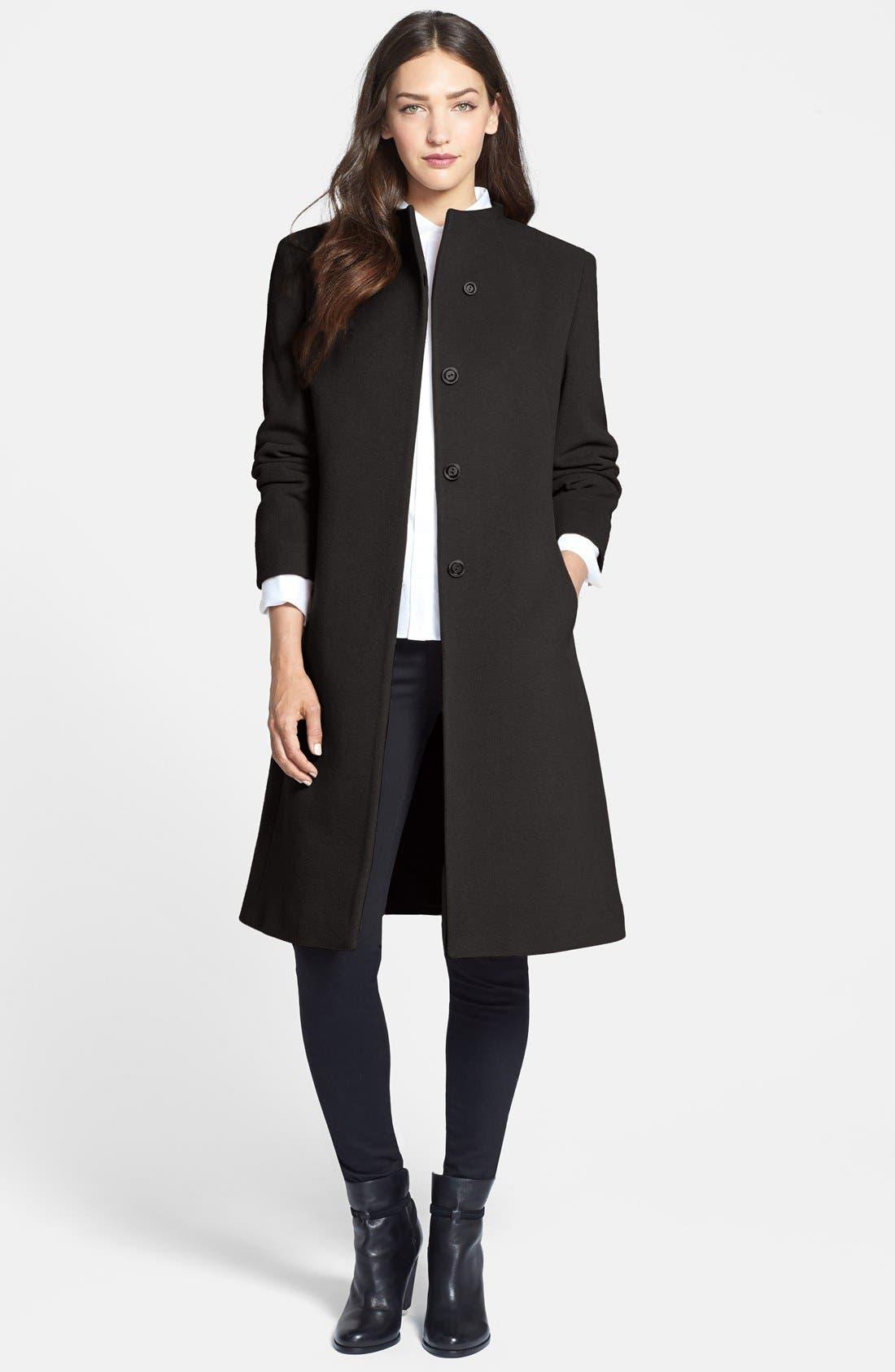 Main Image - Cinzia Rocca DUE Stand Collar Long Coat