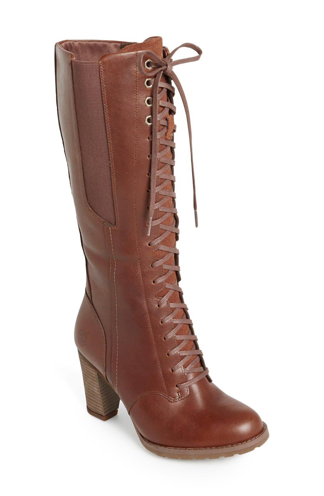 Alternate Image 1 Selected - Timberland Earthkeepers® 'Stratham Heights' Waterproof Tall Boot (Women)