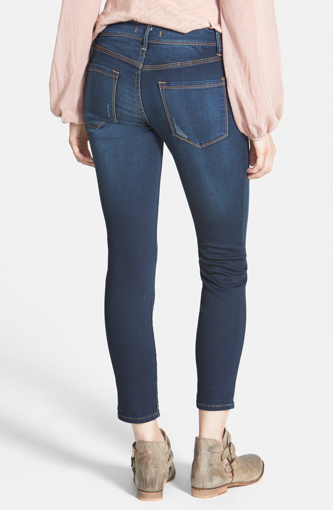 Alternate Image 2  - Free People 'Roller' Crop Skinny Jeans (Ella)