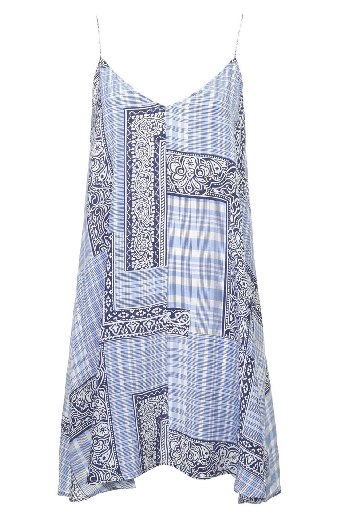 Alternate Image 3  - Topshop Boutique Tile Print Silk Slipdress