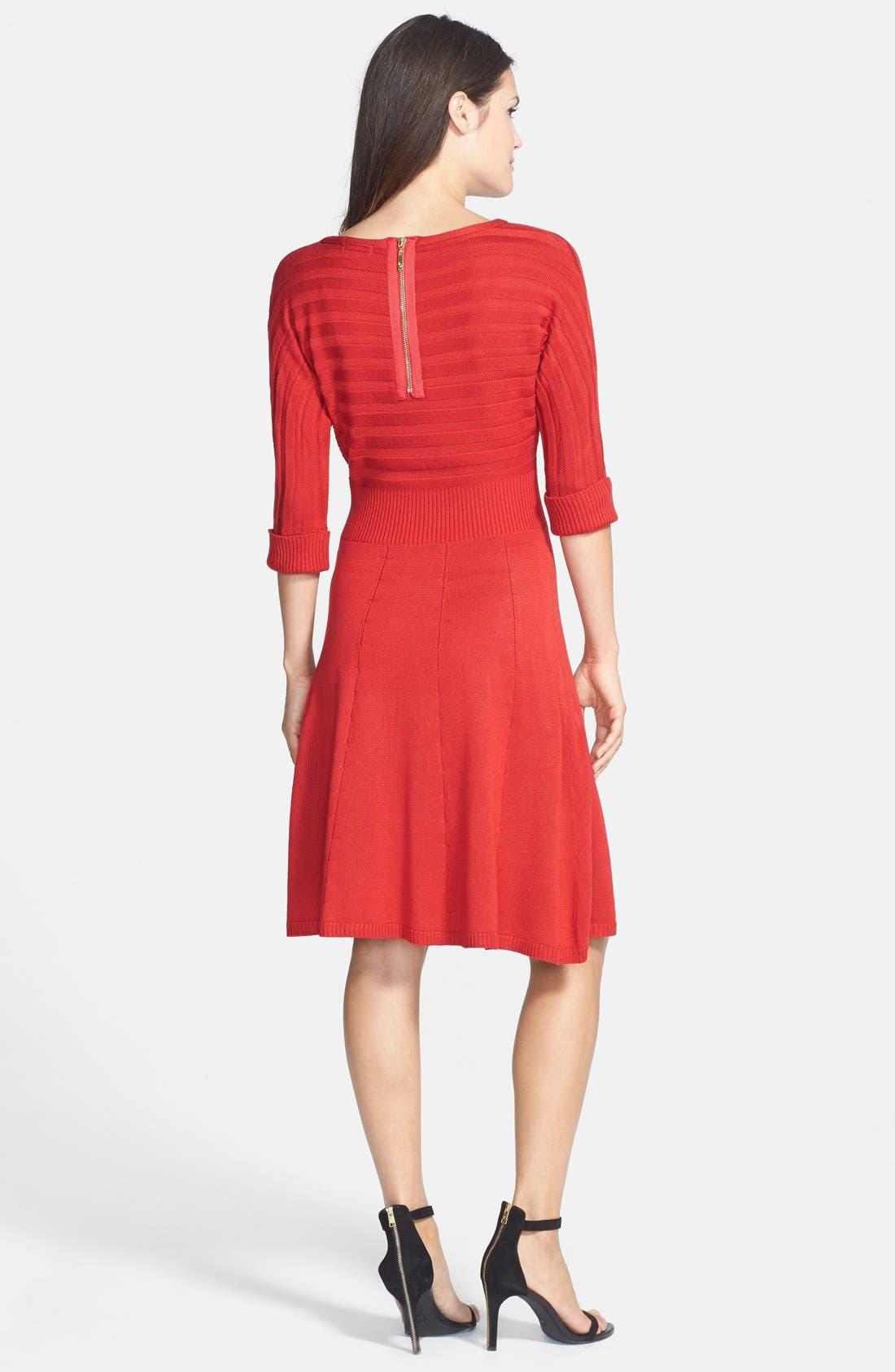 Alternate Image 2  - Eliza J Fit & Flare Sweater Dress