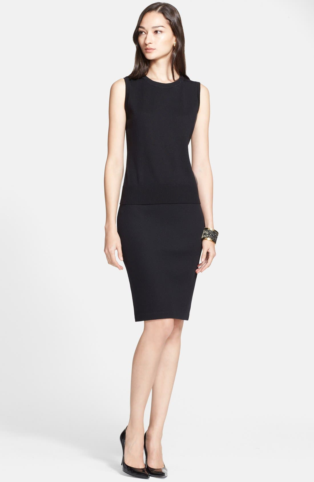 Alternate Image 1 Selected - St. John Collection Sleeveless Wool Knit Shell