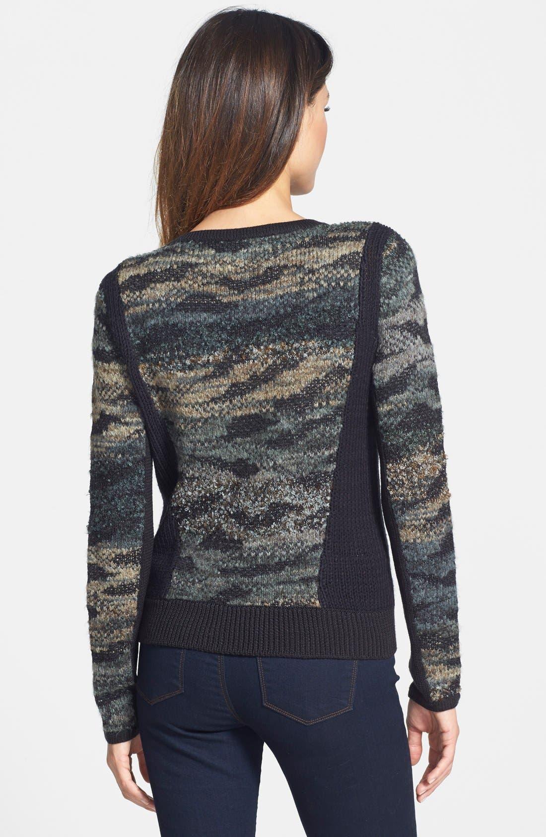 Alternate Image 2  - Curio Camo Moto Sweater (Petite)