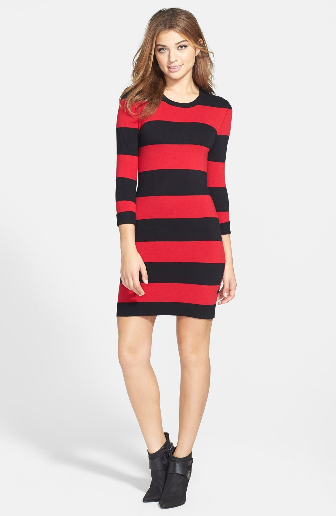 Alternate Image 3  - French Connection Stripe Sweater Dress