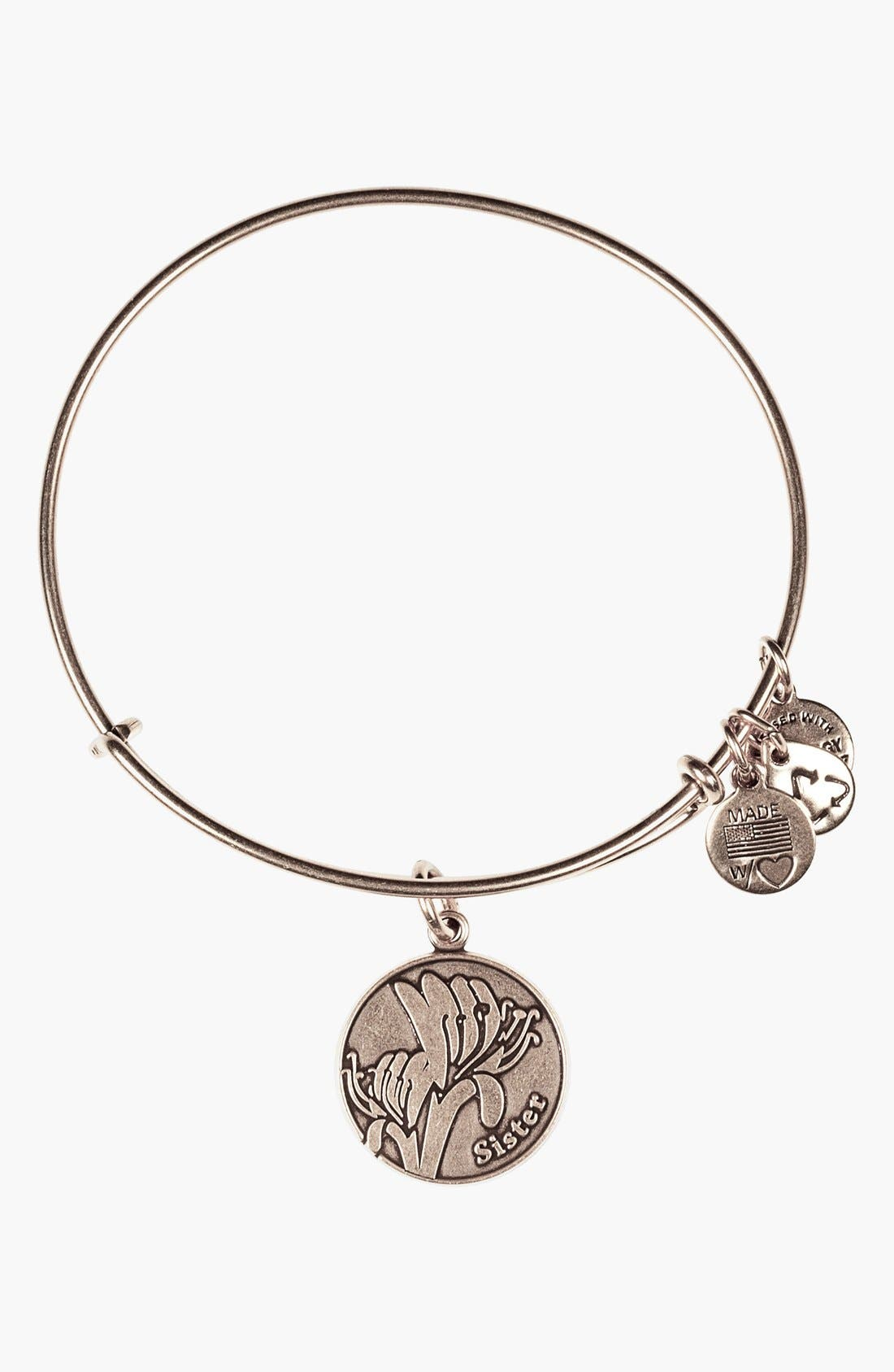 Main Image - Alex and Ani 'Sister' Expandable Wire Bangle