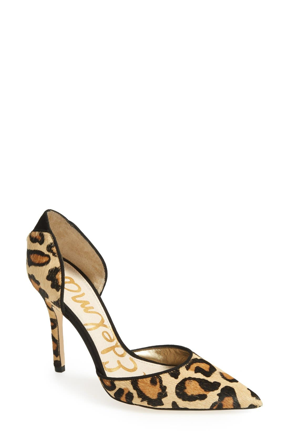 Alternate Image 1 Selected - Sam Edelman 'Delilah' Calf Hair d'Orsay Pump (Women)
