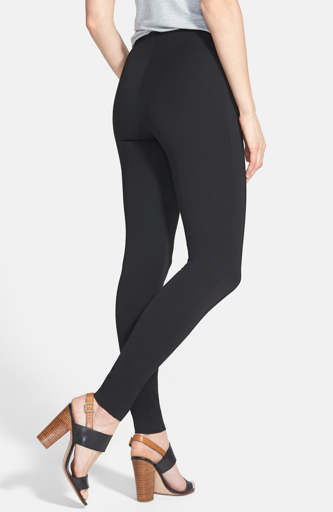 Alternate Image 2  - Vince Camuto Side Zip Skinny Pants (Regular & Petite)