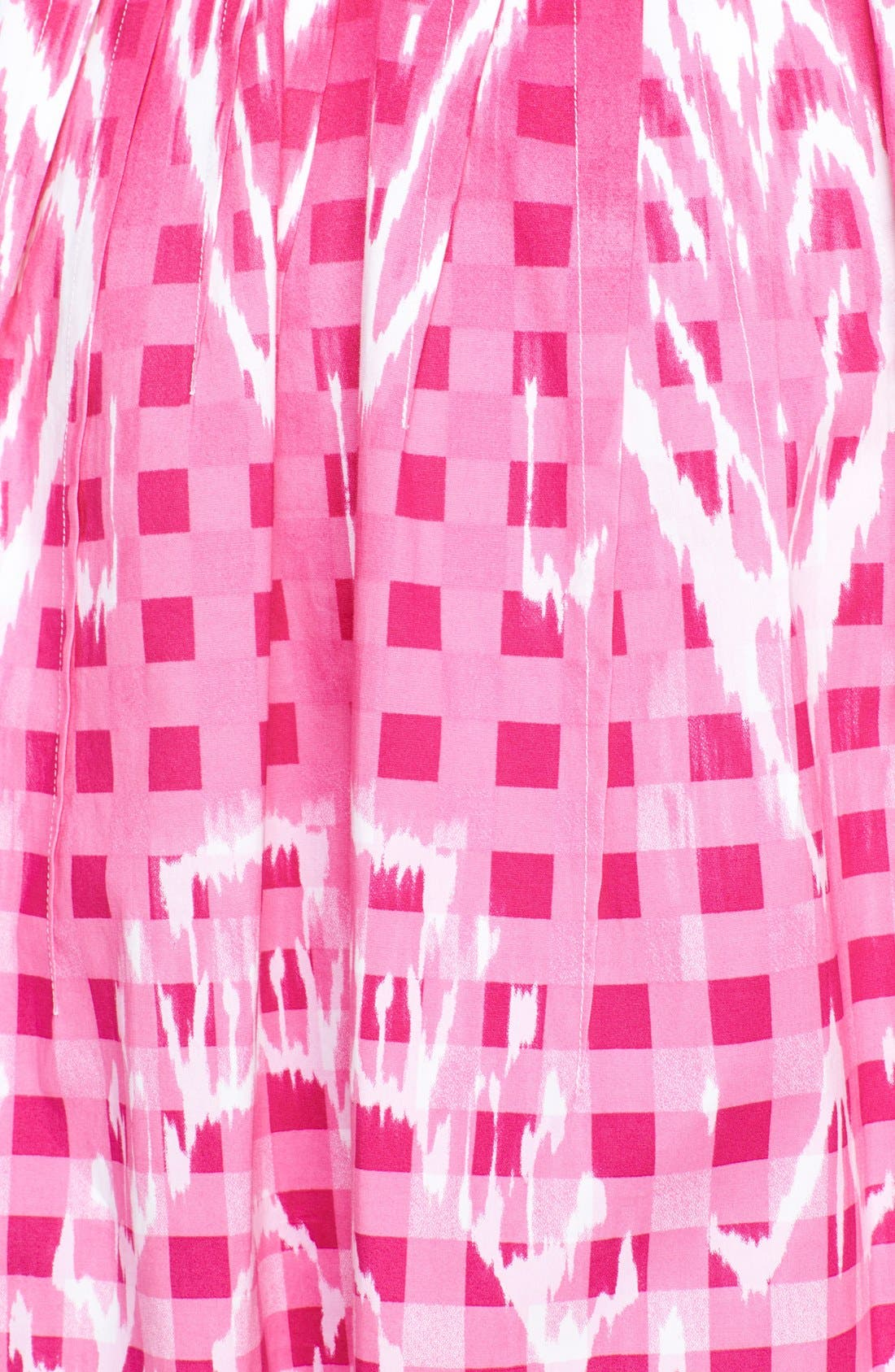 Alternate Image 4  - Oscar de la Renta Ikat Print Poplin Dress