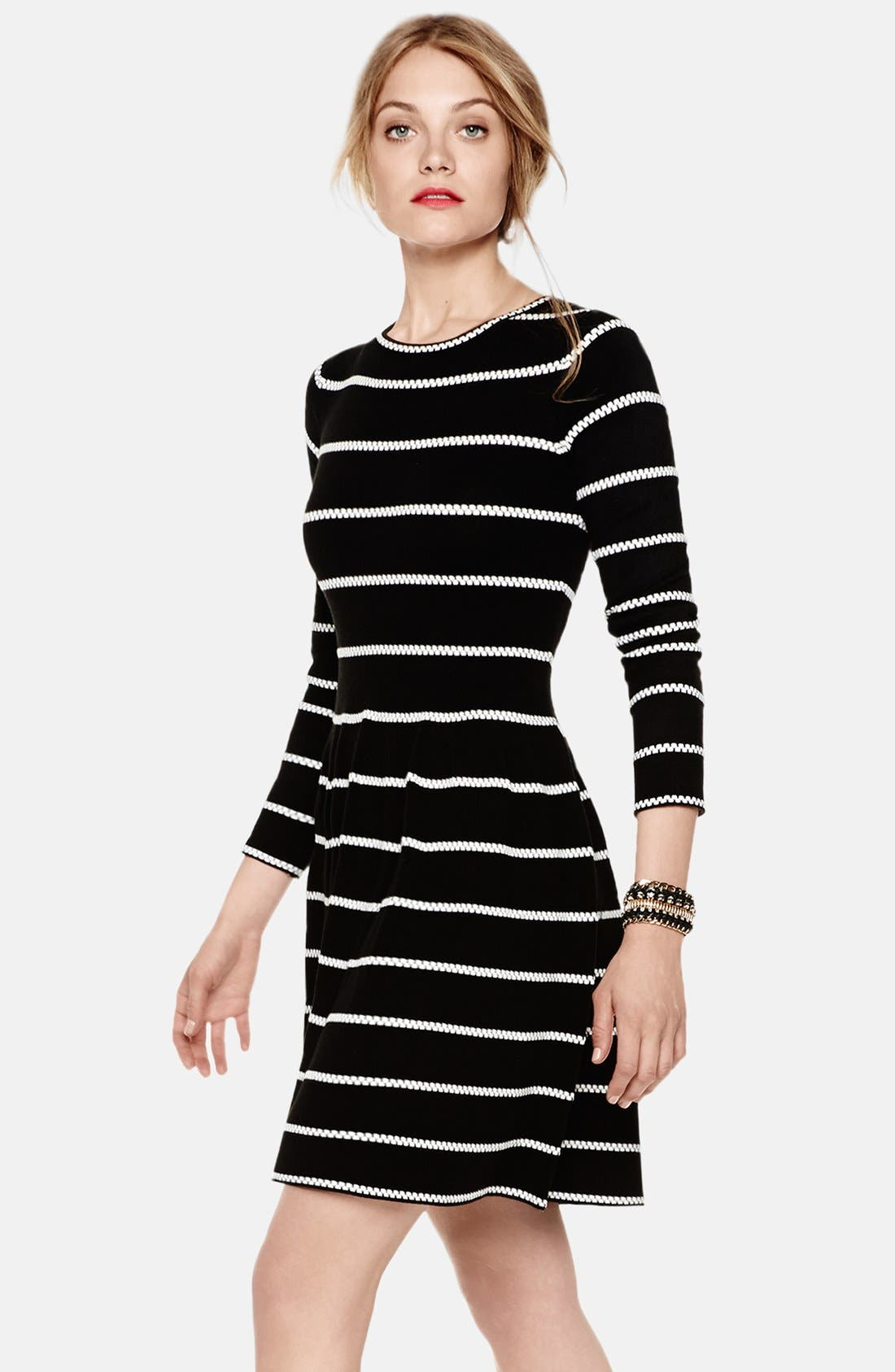 Main Image - Eliza J Knit Fit & Flare Dress