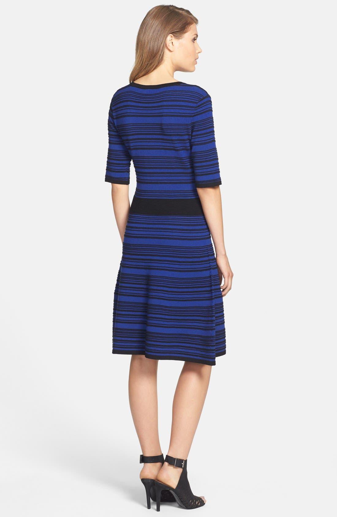 Alternate Image 2  - Taylor Dresses Ribbed Sweater Dress