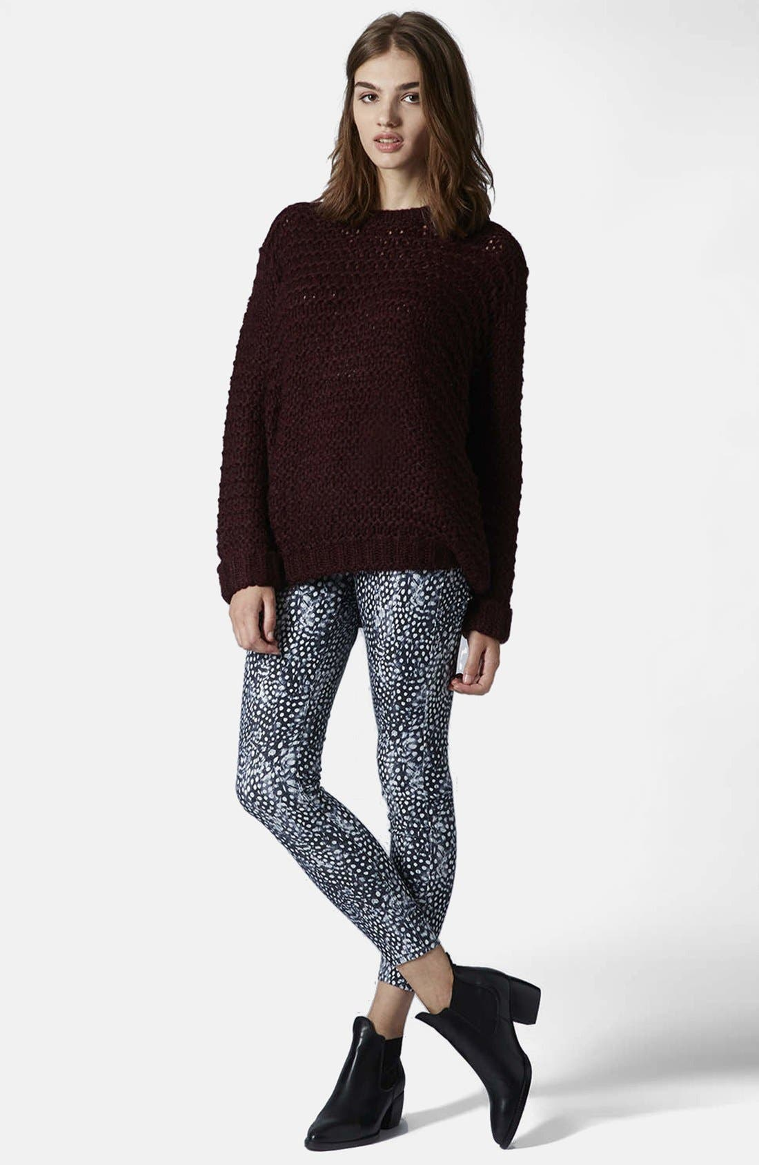 Alternate Image 5  - Topshop Moto 'Leigh - Guinea Dot' Ankle Skinny Jeans