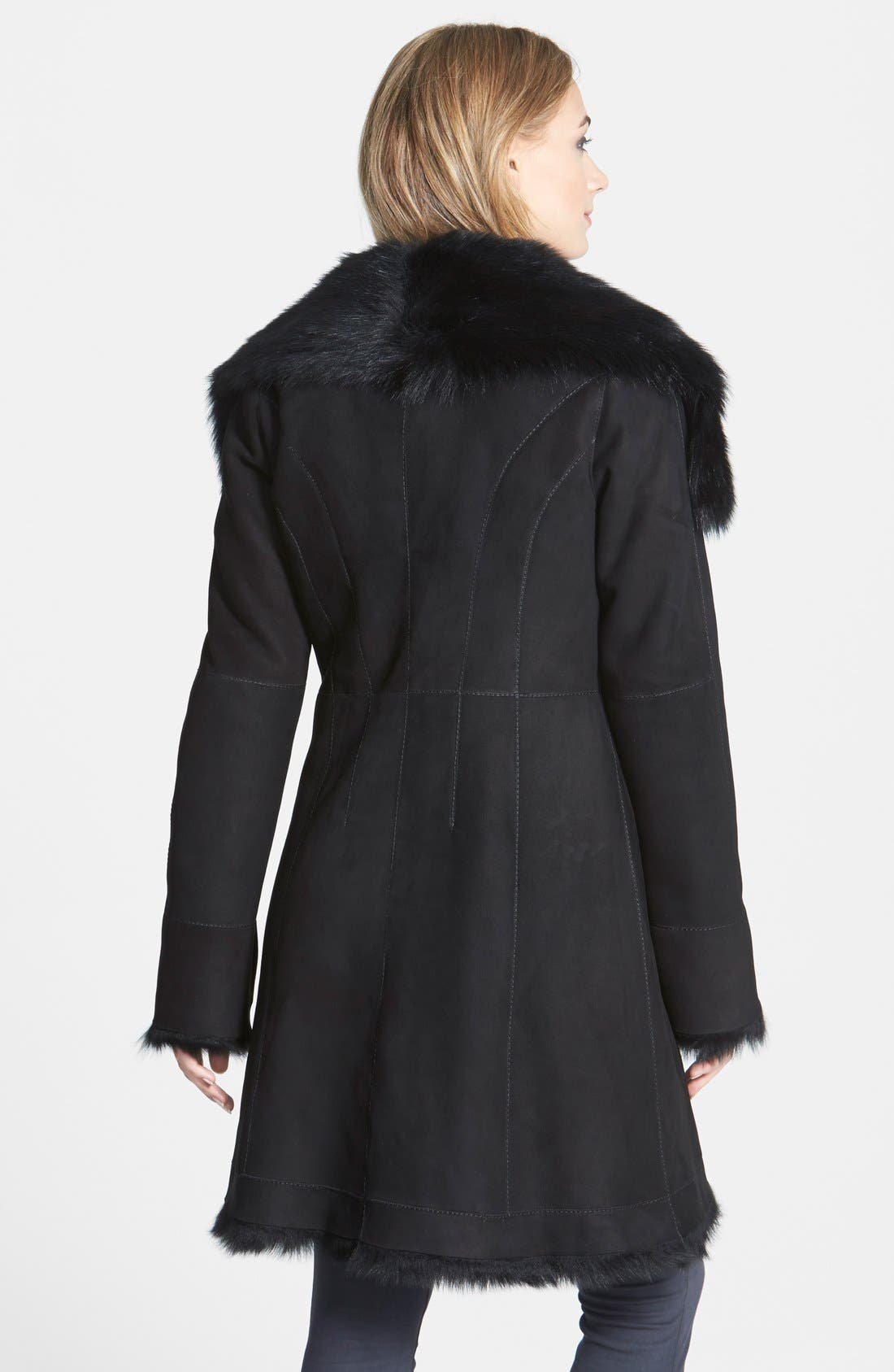 Alternate Image 2  - HIDESOCIETY Envelope Collar Genuine Toscana Shearling Coat