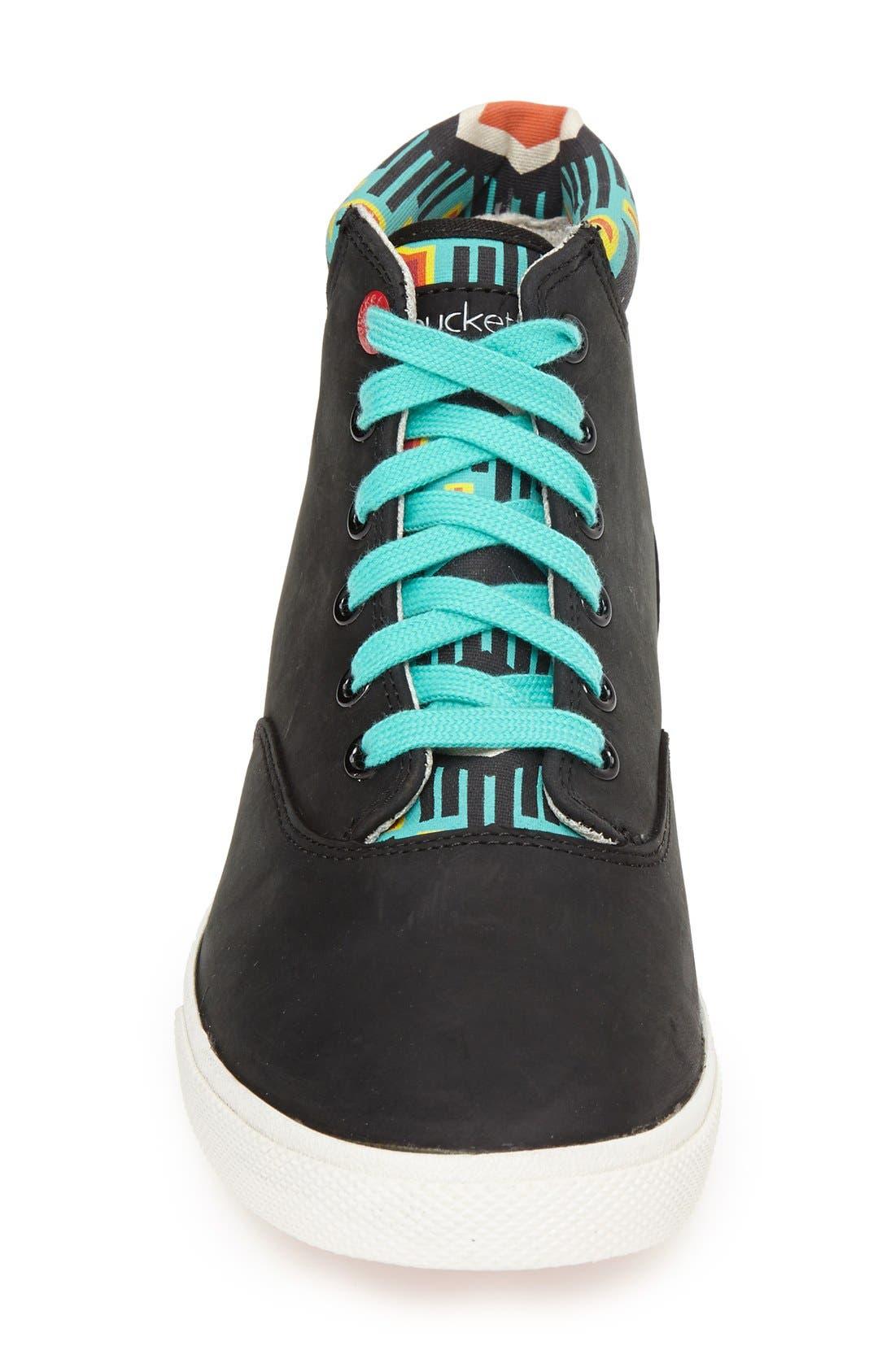 Alternate Image 3  - BucketFeet 'Archer B' Mid Top Leather Sneaker (Women)