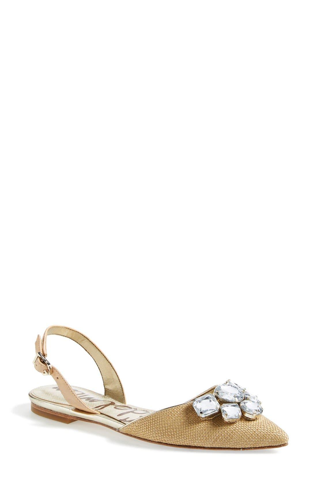 Alternate Image 1 Selected - Sam Edelman 'Reece' Slingback Pointy Toe Flat (Women)