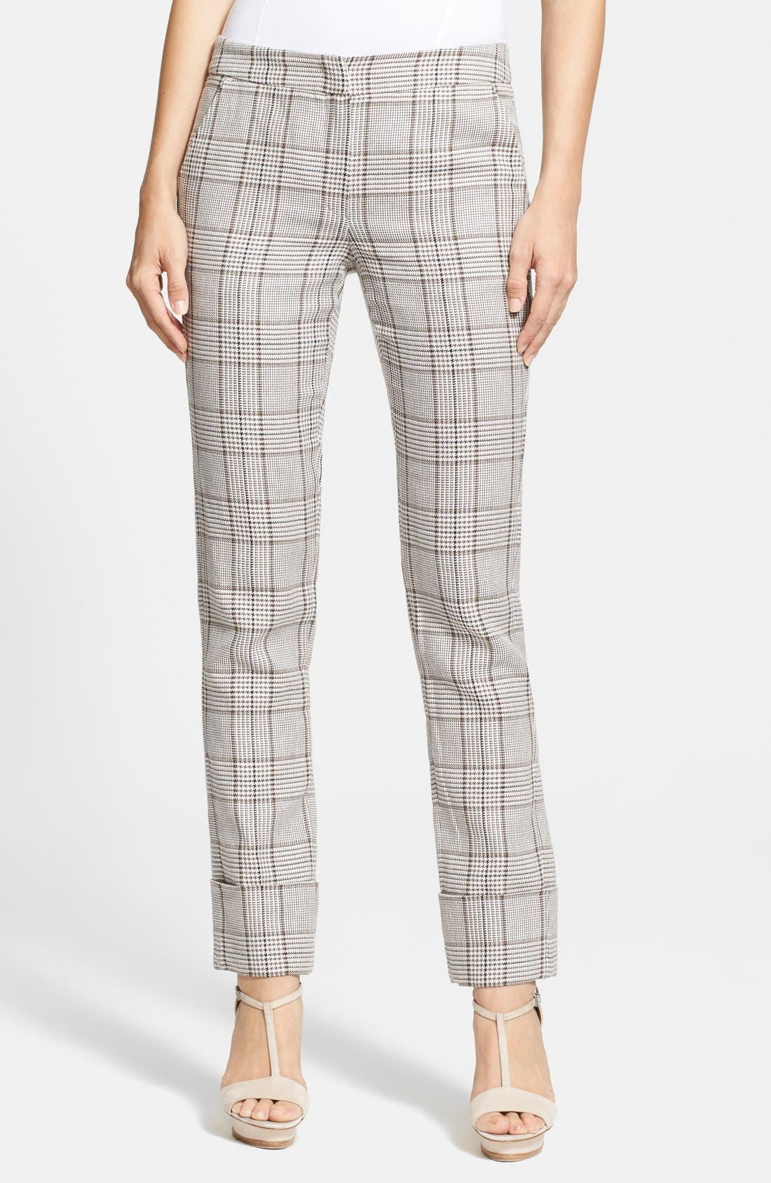 Alternate Image 1 Selected - Armani Collezioni Prince of Wales Cuffed Trousers