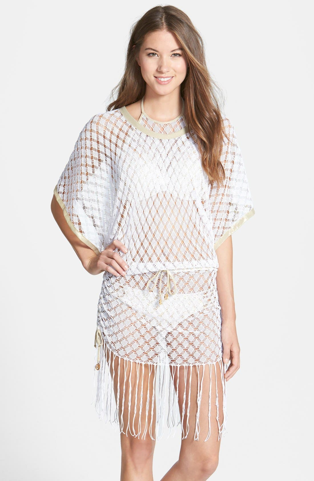 Main Image - Luli Fama 'South Beach' Crochet Cover-Up Dress