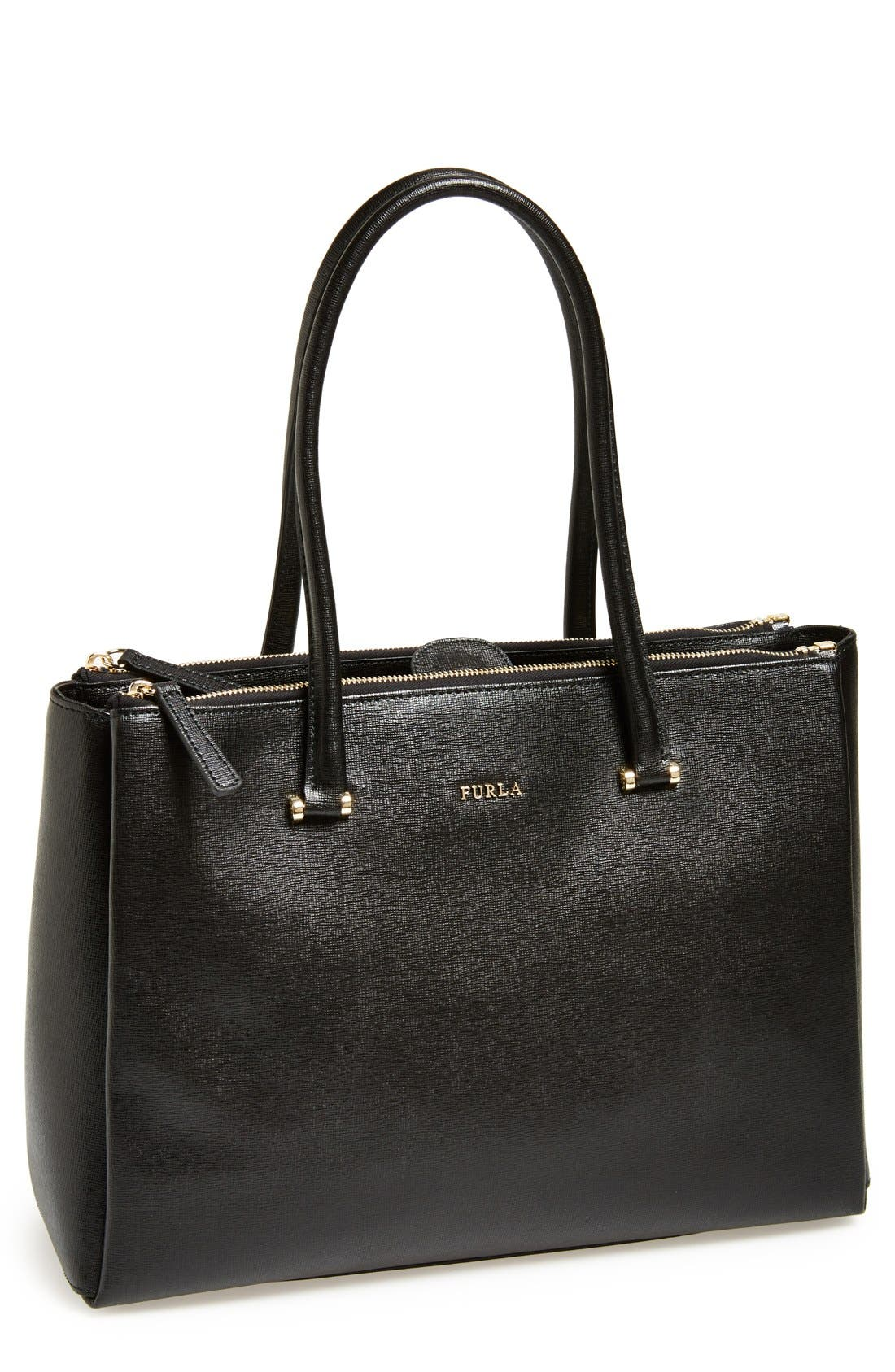 Alternate Image 1 Selected - Furla 'Large Lotus' Saffiano Leather Tote