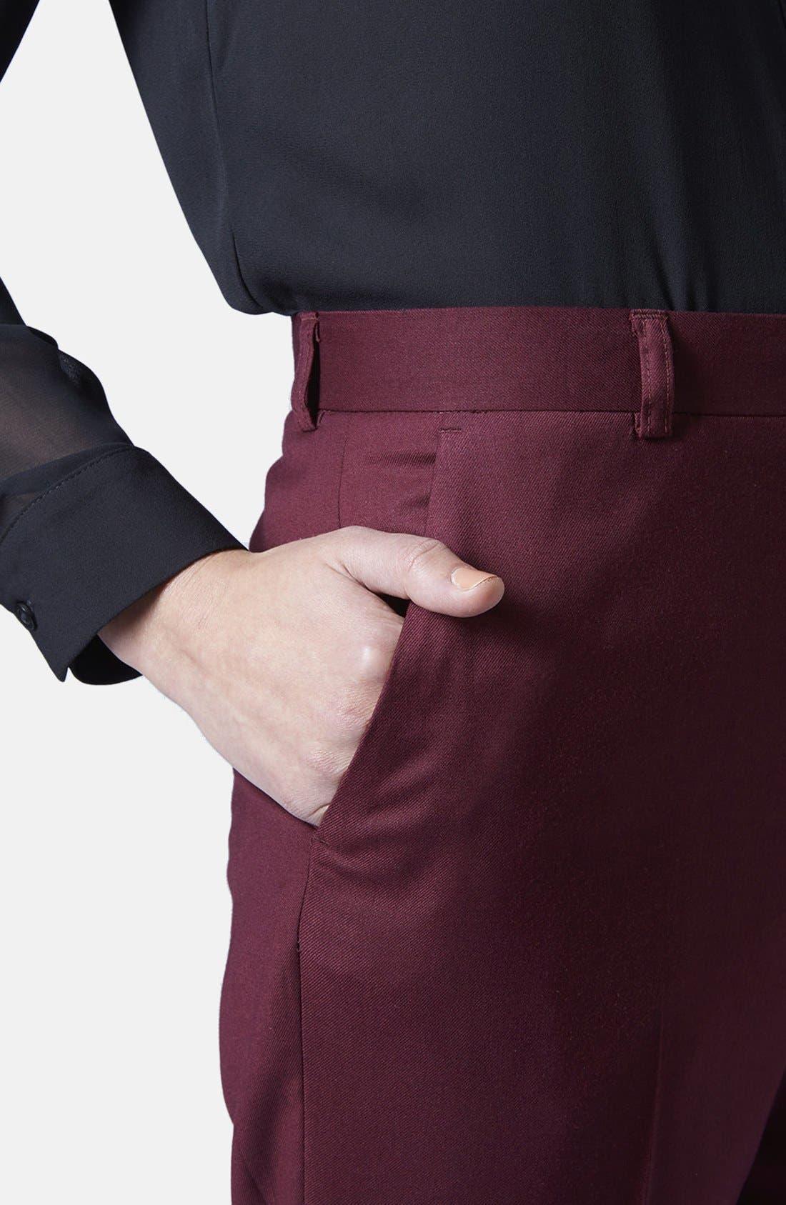 Alternate Image 3  - Topshop Premium Suit Trousers