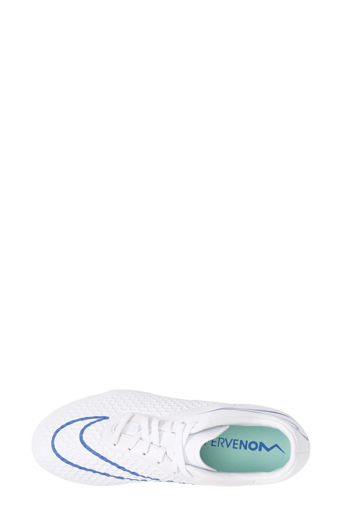 Alternate Image 3  - Nike 'Hypervenom Phelon' Firm Ground Soccer Cleat (Women)