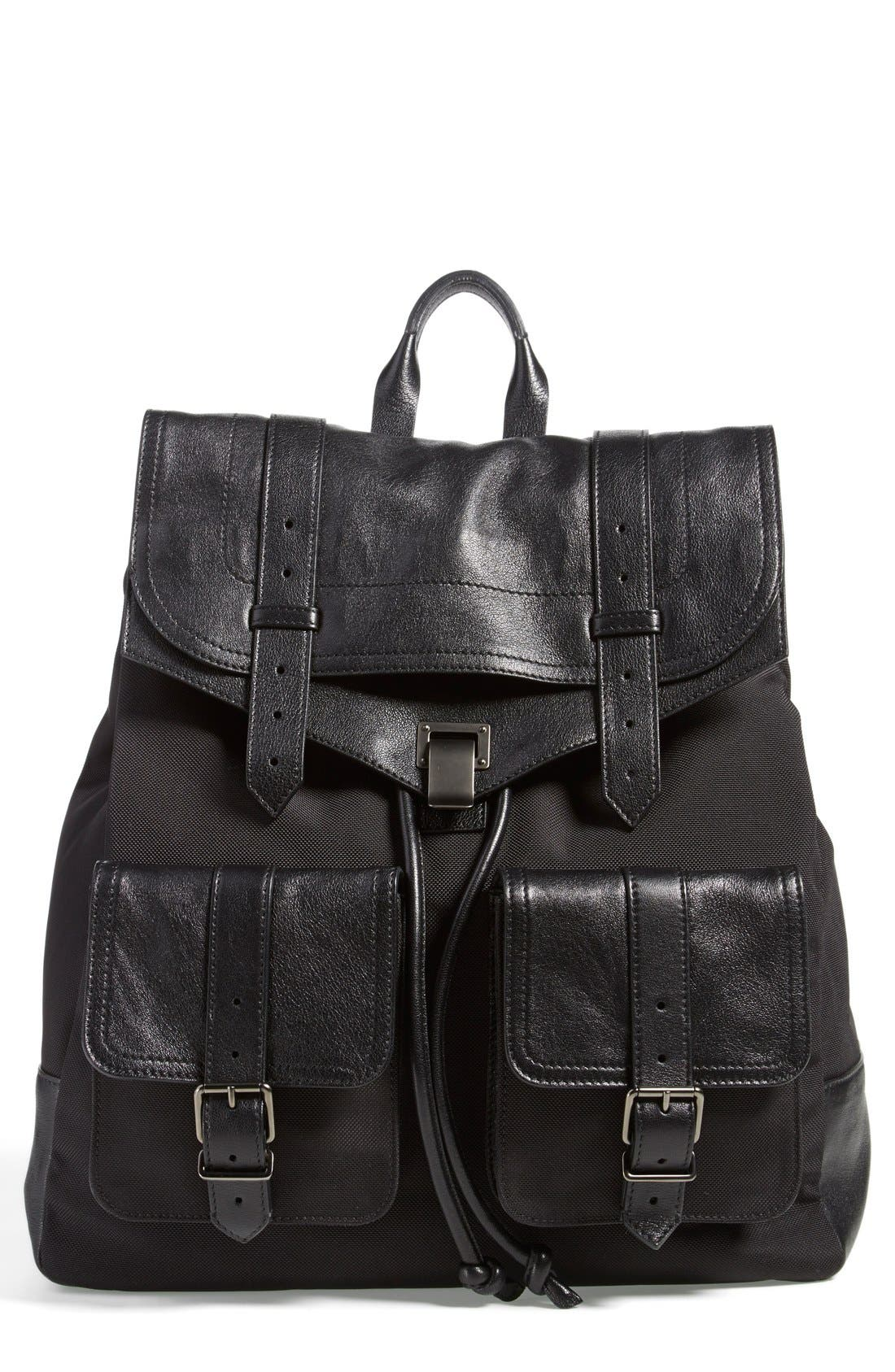 Alternate Image 1 Selected - Proenza Schouler 'Extra Large PS1' Nylon & Leather Backpack