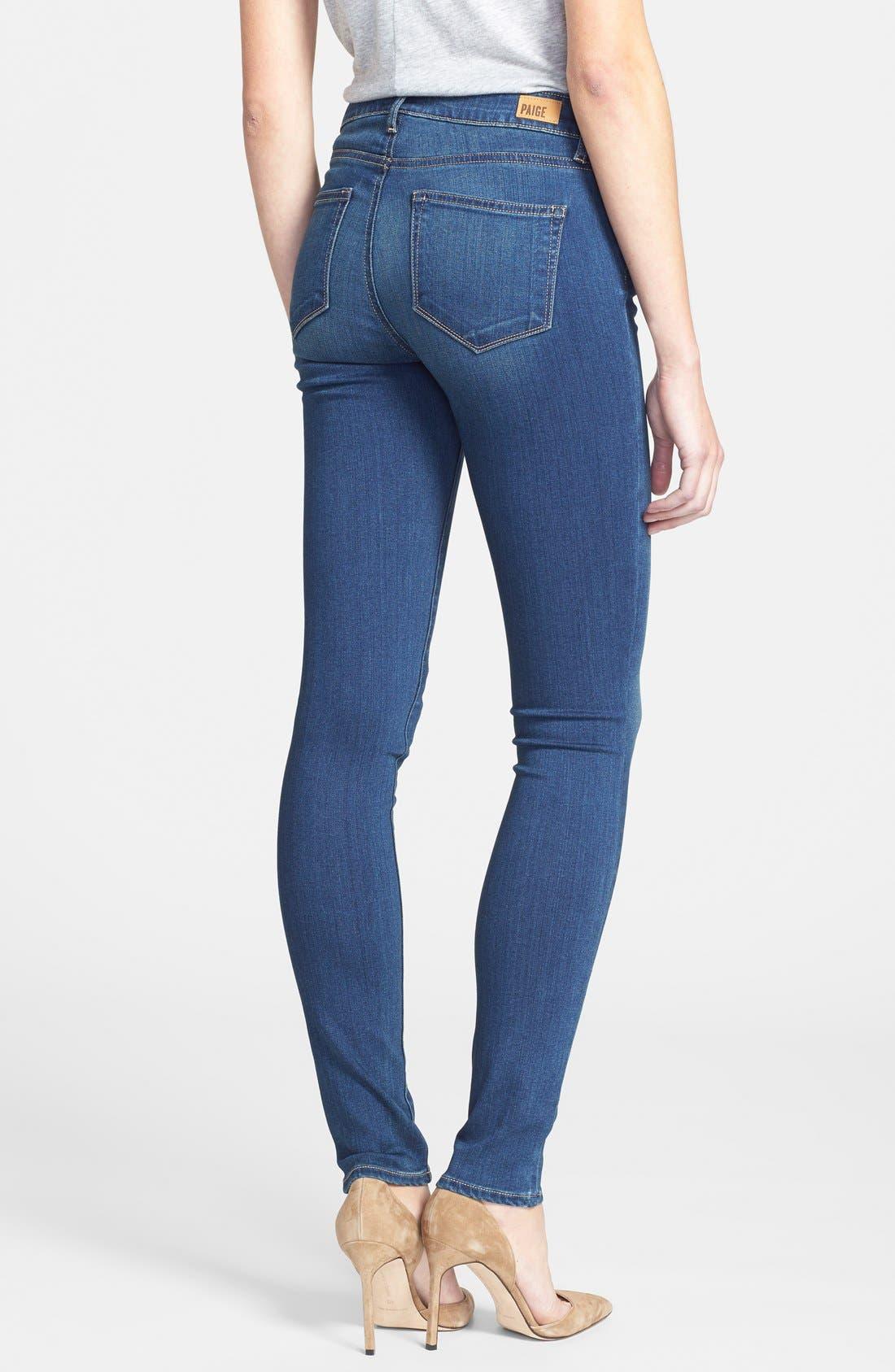 Alternate Image 2  - Paige Denim 'Indio' Zip Detail Ultra Skinny Jeans (Easton No Whiskers)