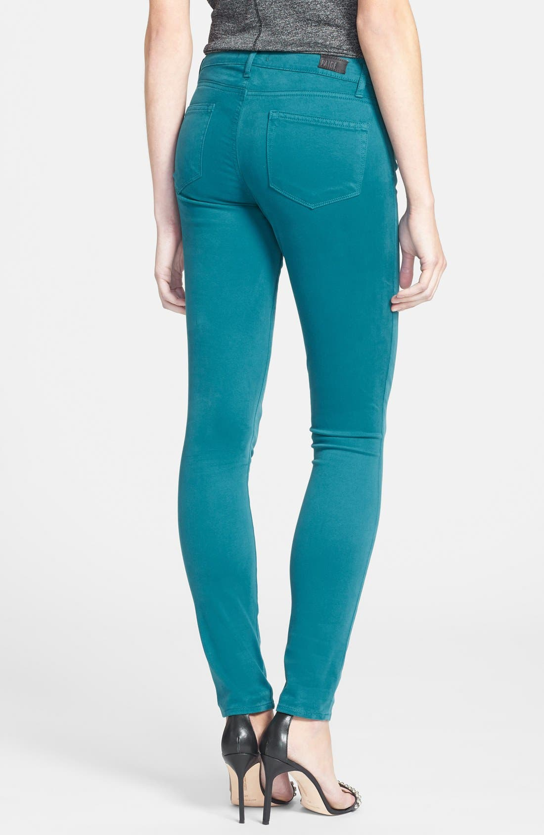 Alternate Image 2  - Paige Denim 'Verdugo' Ultra Skinny Jeans (Deep Turquoise)