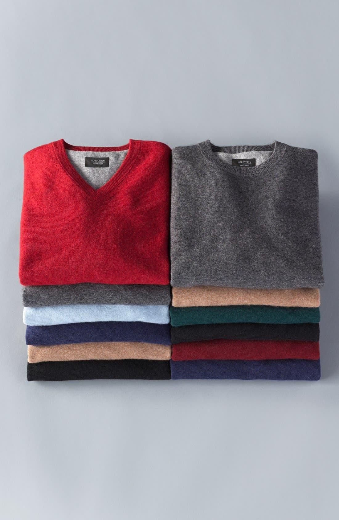 Alternate Image 5  - Nordstrom Men's Shop Cashmere V-Neck Sweater (Regular & Tall)