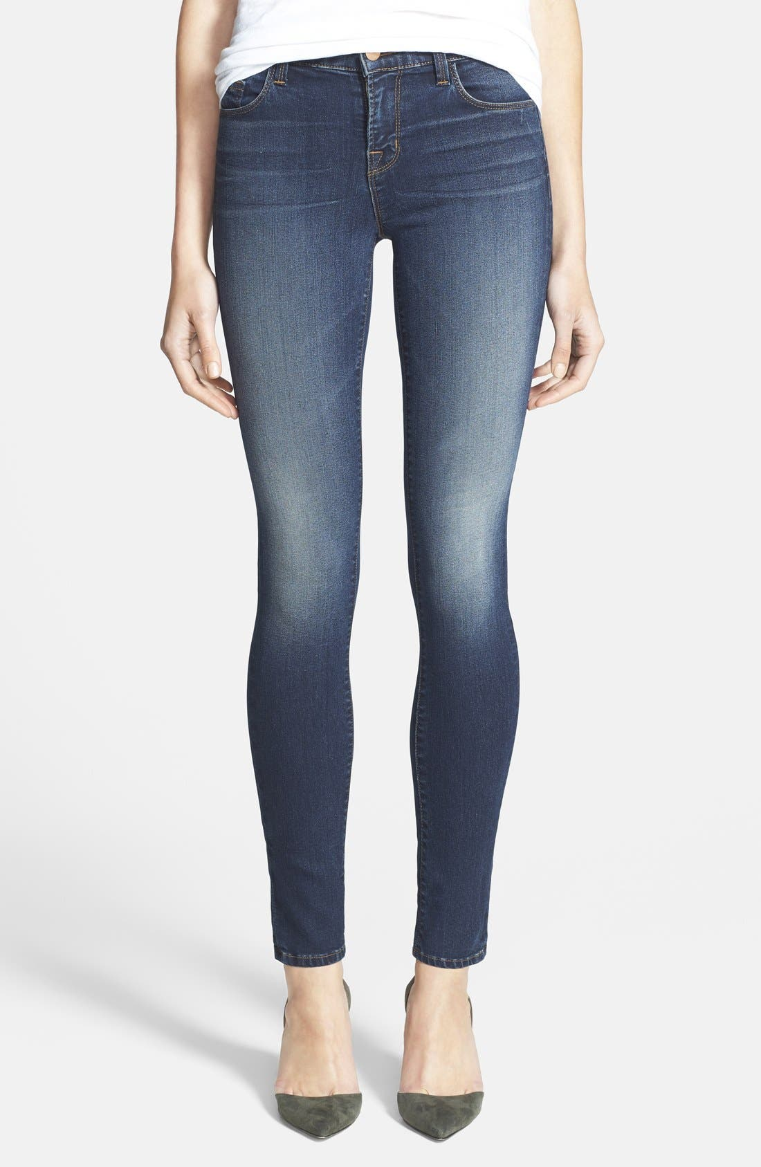 Alternate Image 1 Selected - J Brand '8112 Mid Rise Rail' Skinny Jeans (Venture)