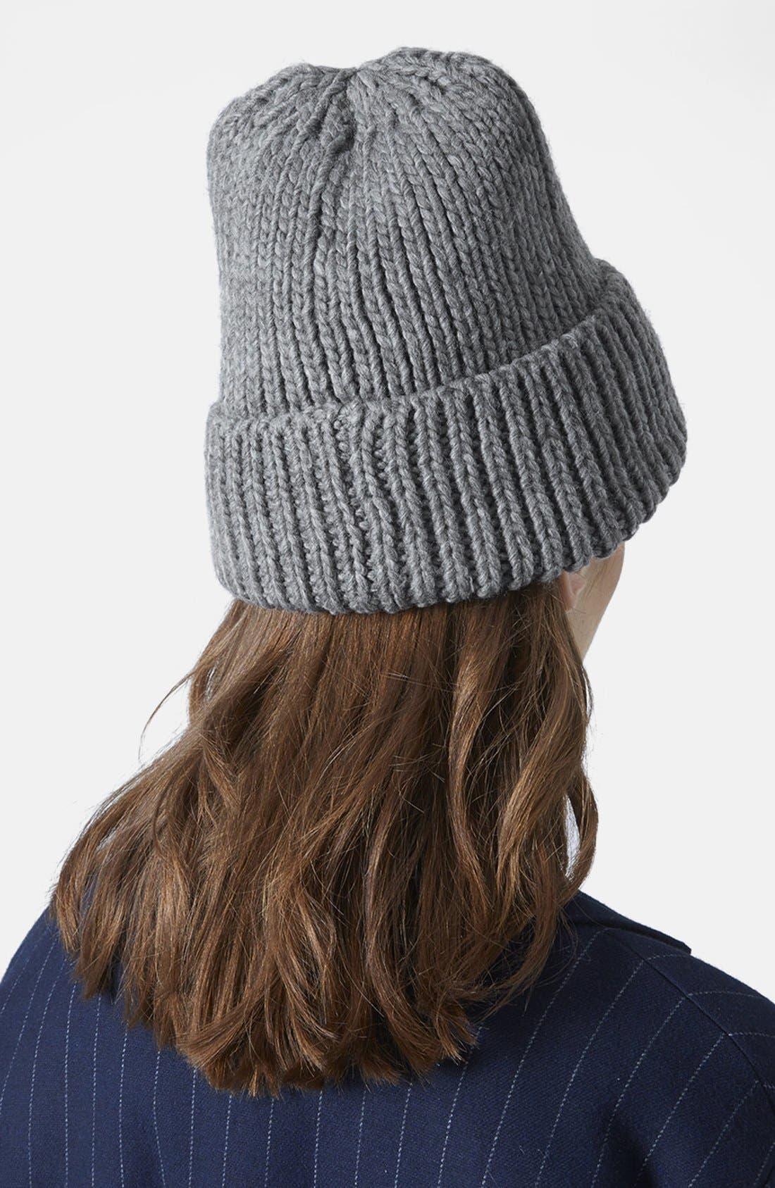 Alternate Image 3  - Topshop Rib Knit Beanie