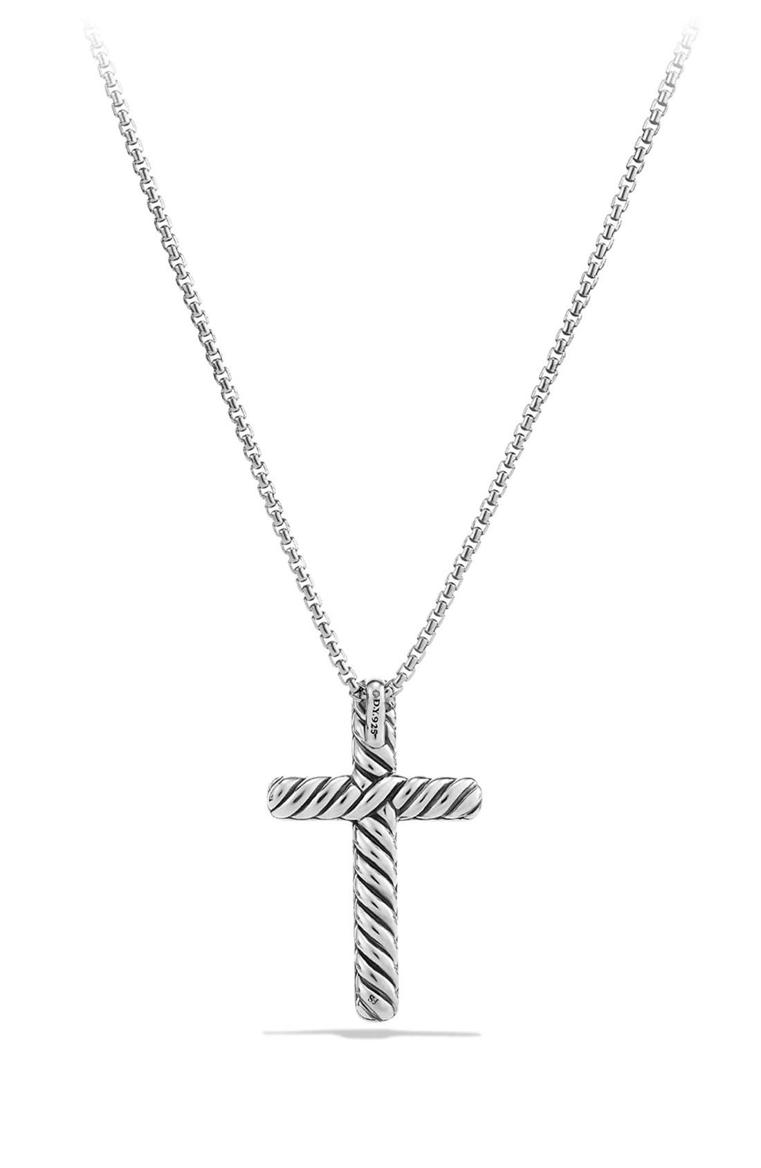Alternate Image 3  - David Yurman 'Petite Pavé' Cross Necklace with Diamonds