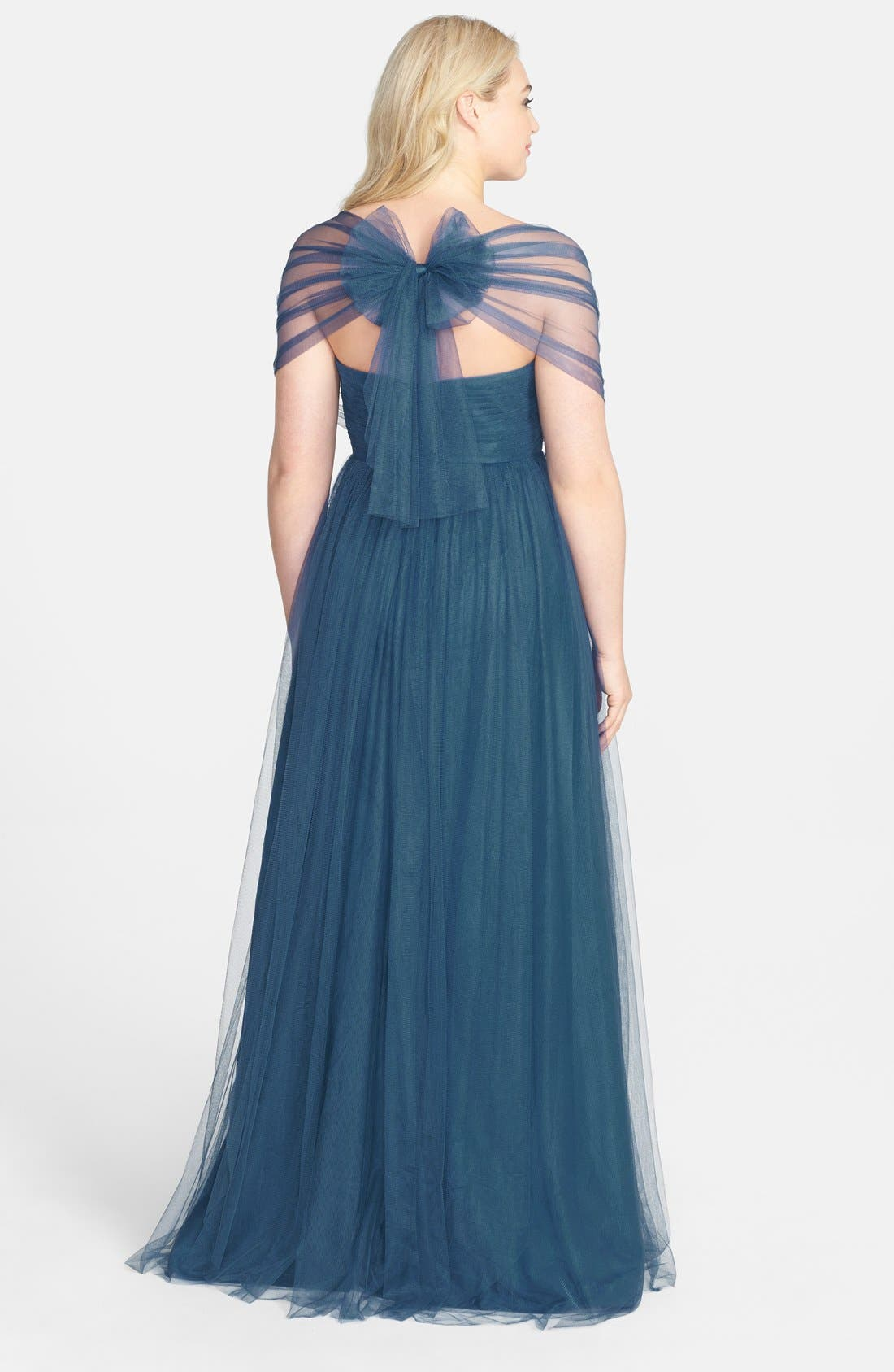 Alternate Image 2  - Jenny Yoo 'Annabelle' Convertible Tulle Column Dress